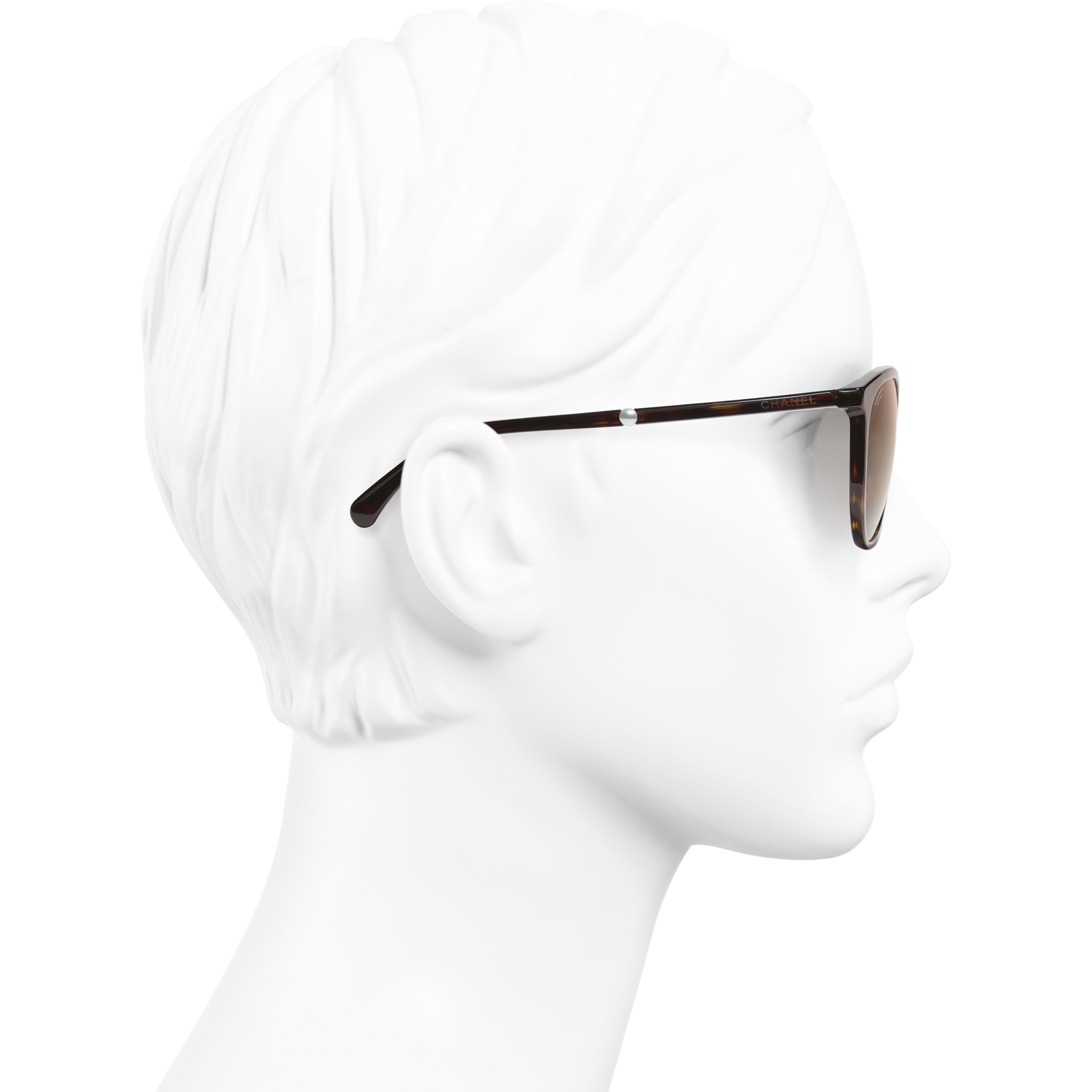 aac04703fd6 ... Butterfly Sunglasses - Dark Tortoise - Acetate   Imitation Pearls -  Polarized Lenses - Worn side