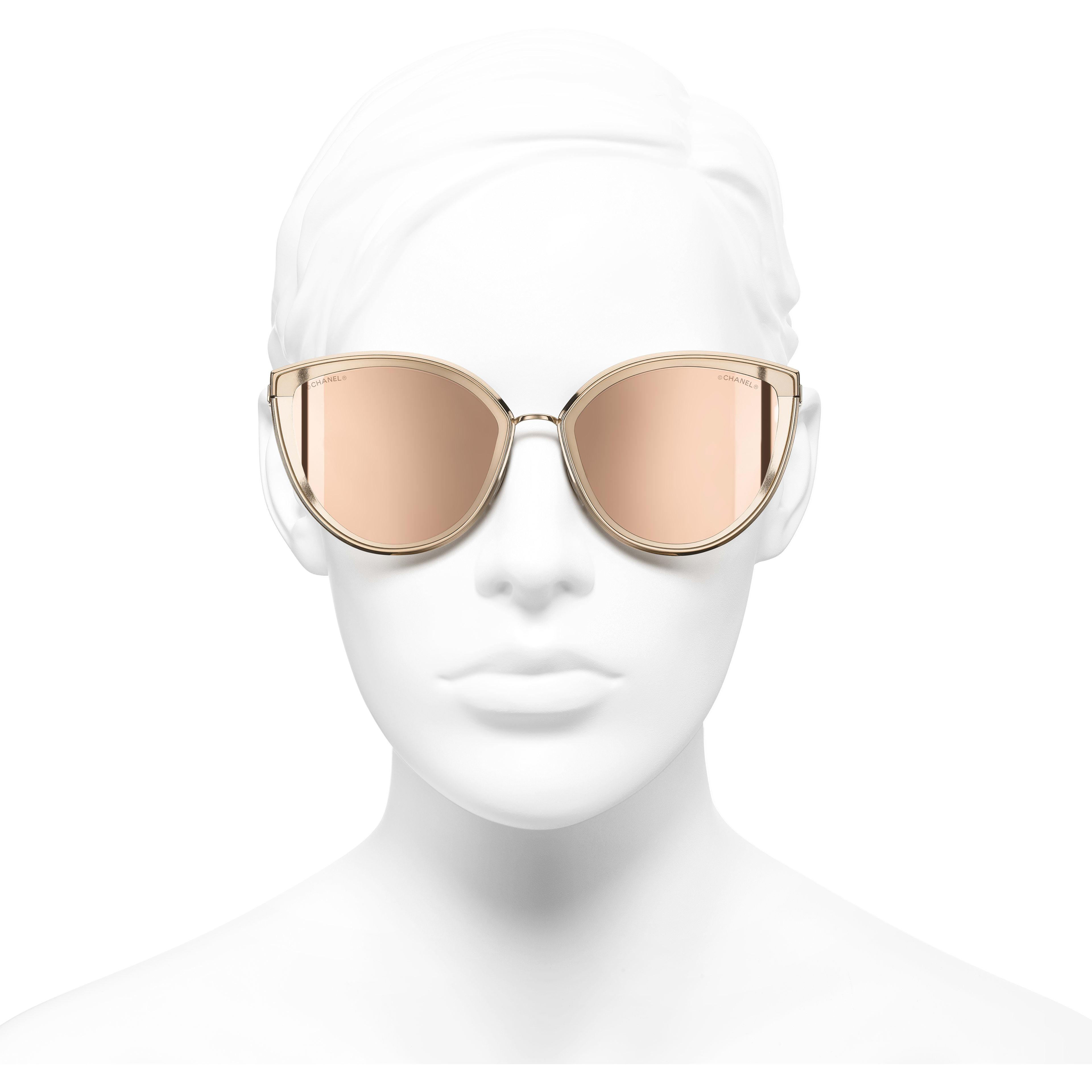 15fdadd64f2 ... Cat Eye Sunglasses - Pink Gold - Metal - 18-Karat Gold Lenses - Worn