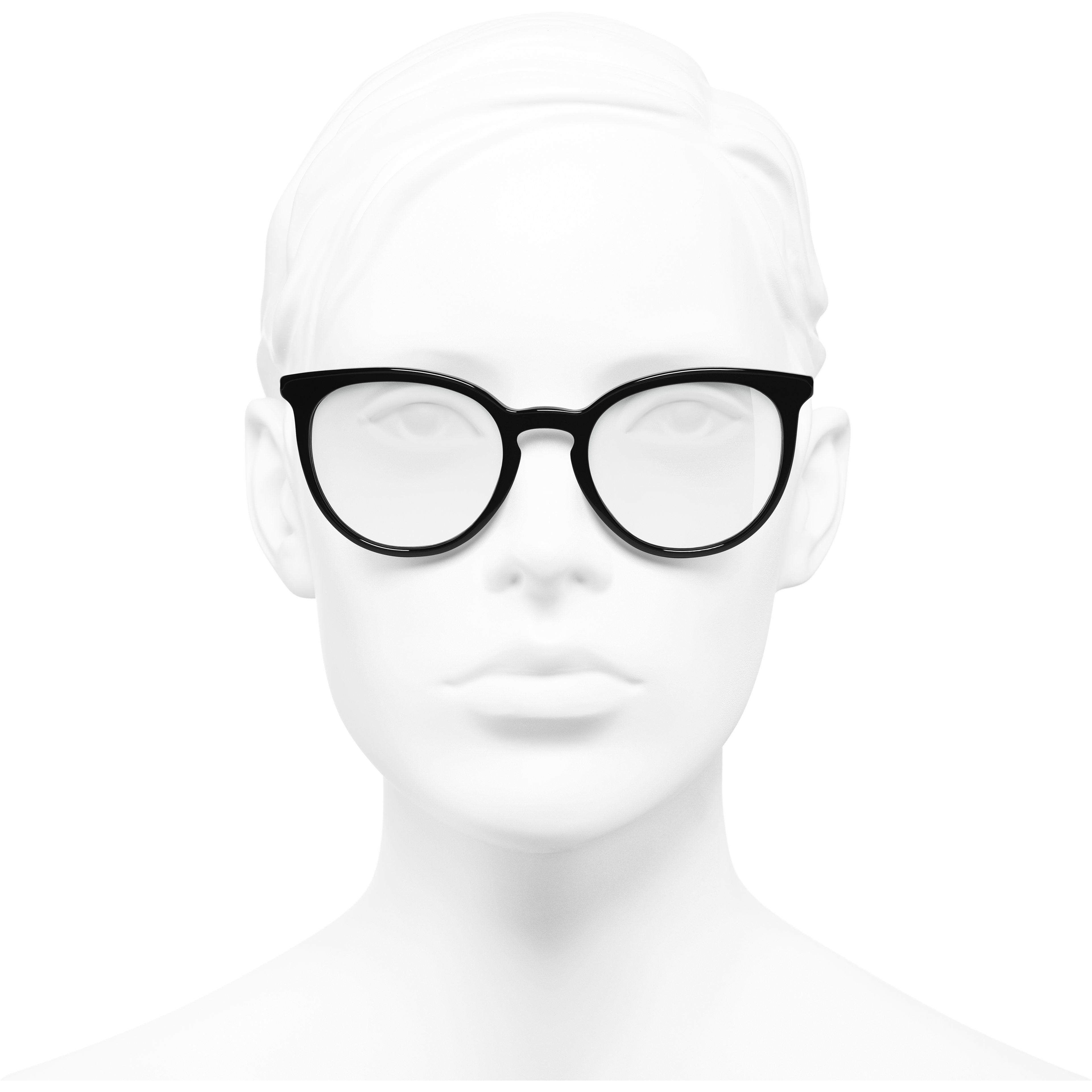 แว่นสายตาทรง Pantos (แพนโทส) - สีดำ - อะซิเตทและมุก - มุมมองการสวมใส่ด้านหน้า - ดูเวอร์ชันขนาดมาตรฐาน