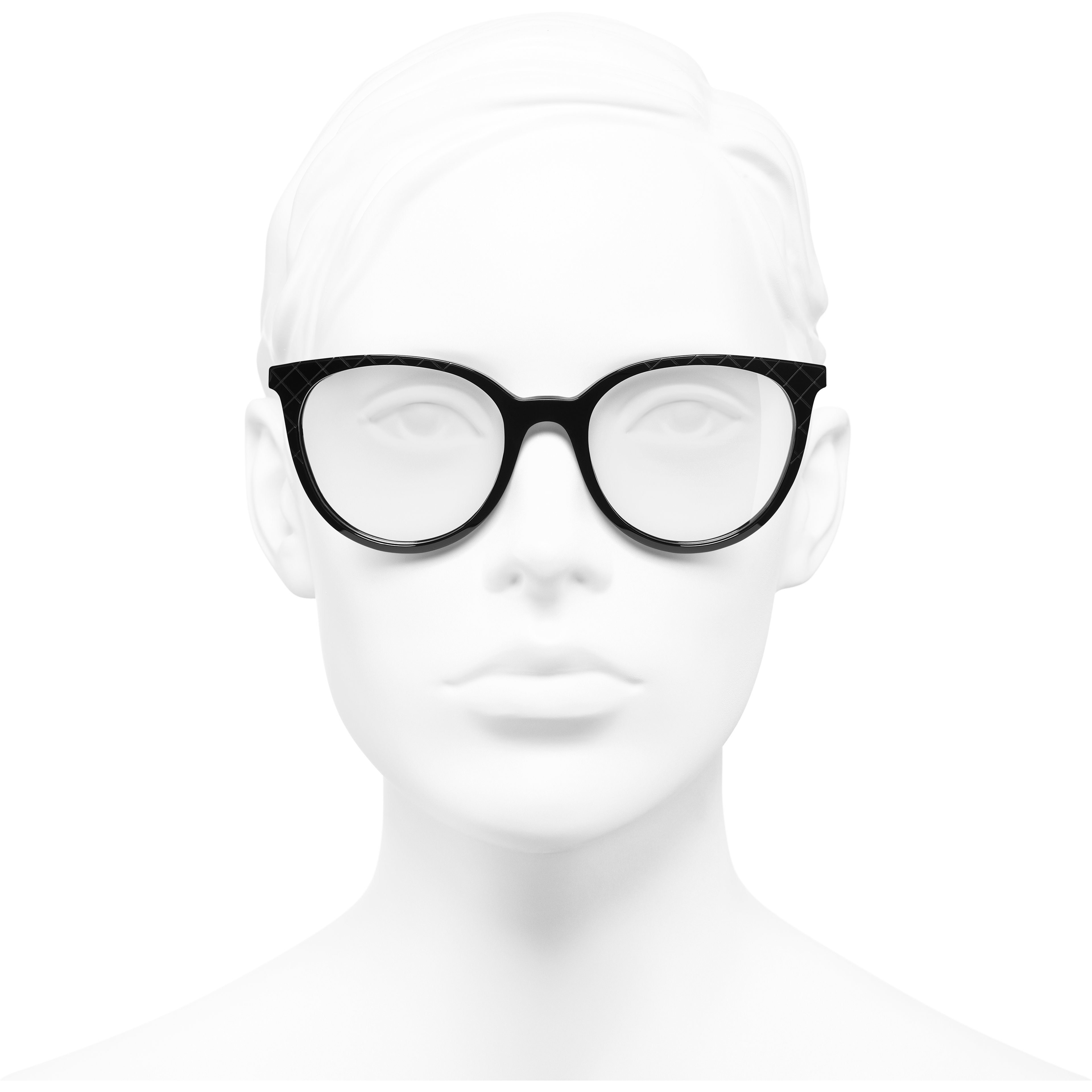 Pantos Eyeglasses - Black - Acetate & Metal - Worn front view - see standard sized version