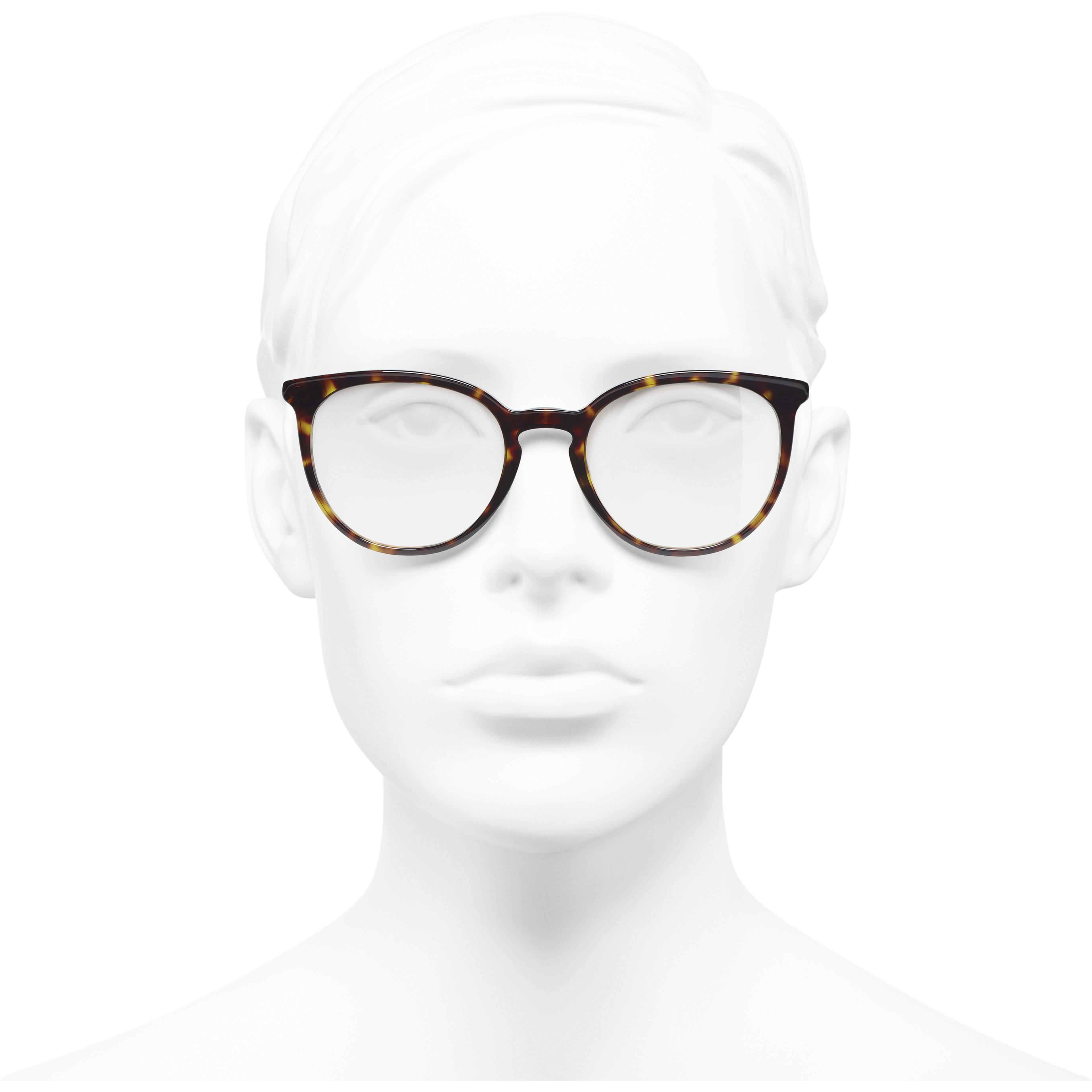 แว่นสายตาทรง Pantos (แพนโทส) - สีกระเข้ม - อะซิเตทและมุก - มุมมองการสวมใส่ด้านหน้า - ดูเวอร์ชันขนาดมาตรฐาน