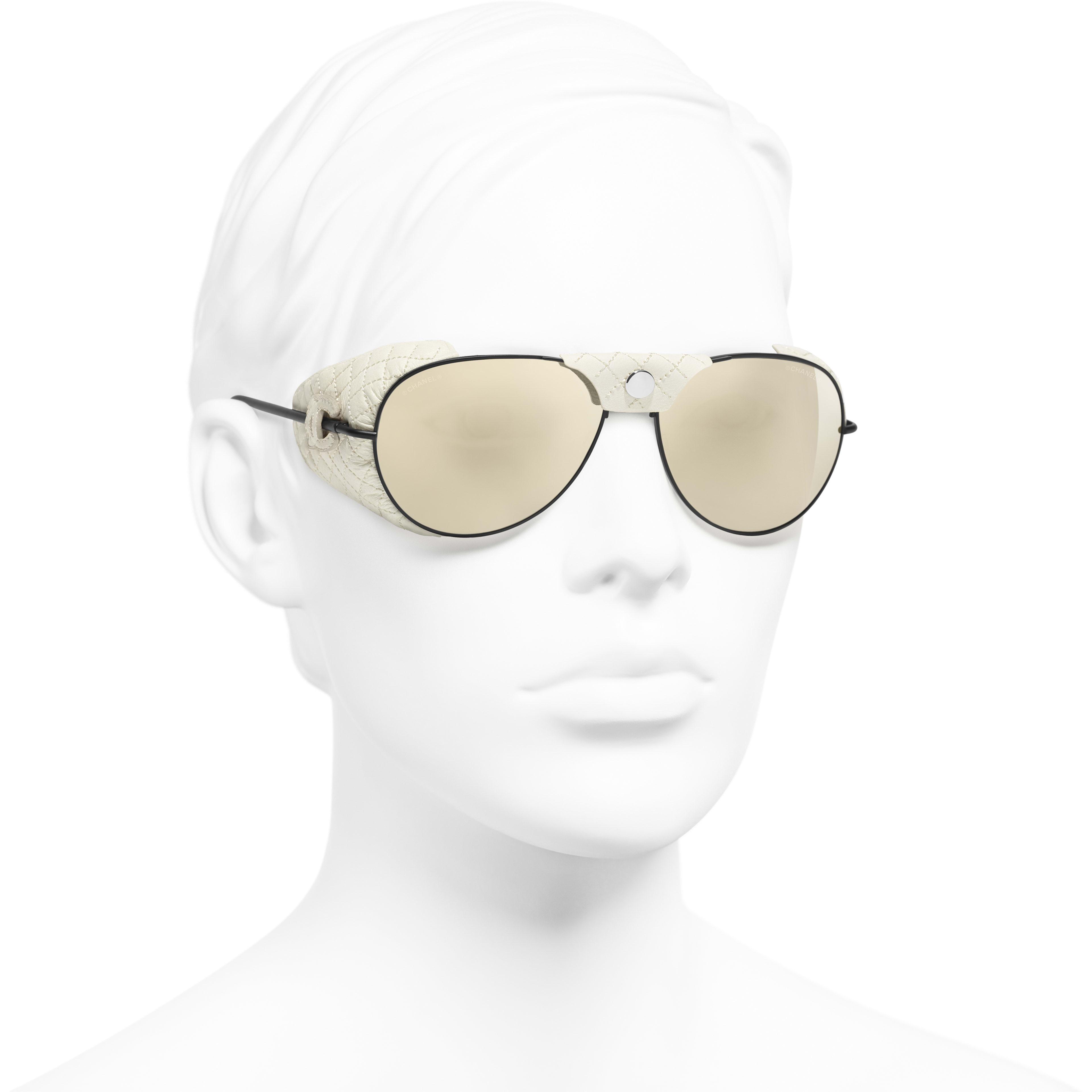 3355ea5ee1 ... Pilot Sunglasses - White - Metal