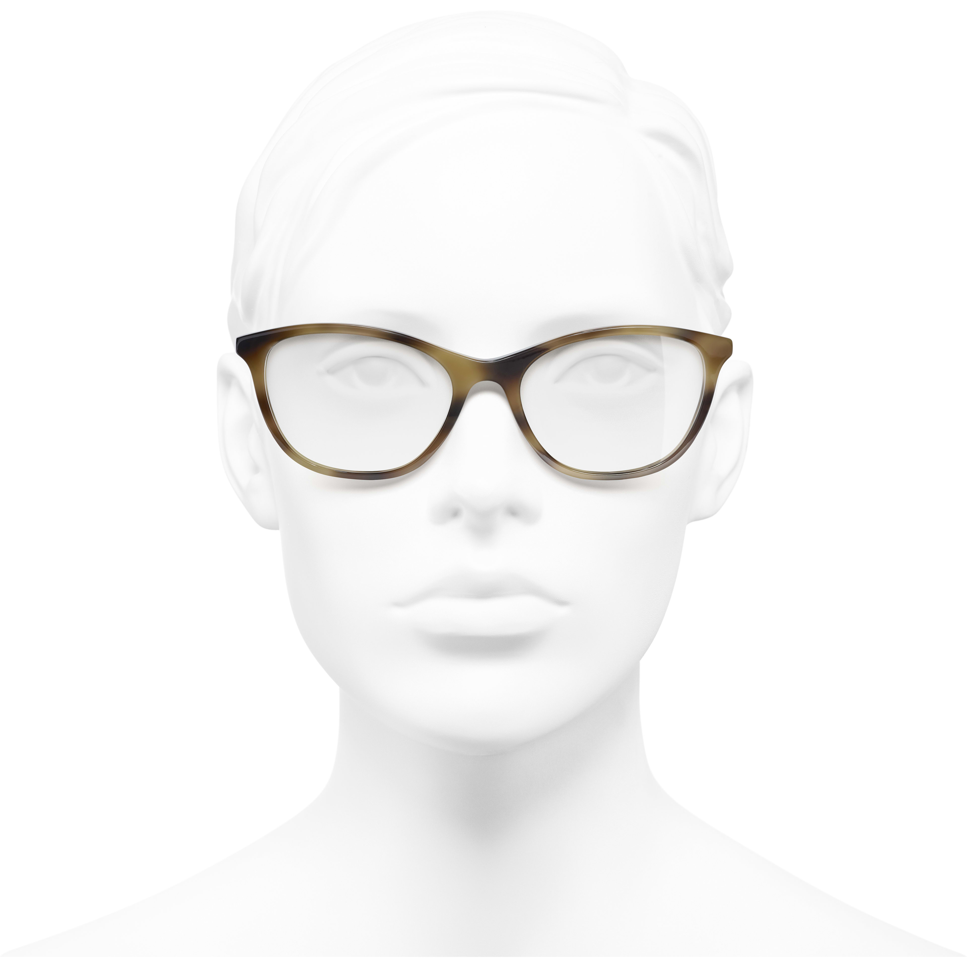 Rectangle Eyeglasses - Tortoise - Acetate & Imitation Pearls - Worn front view - see standard sized version
