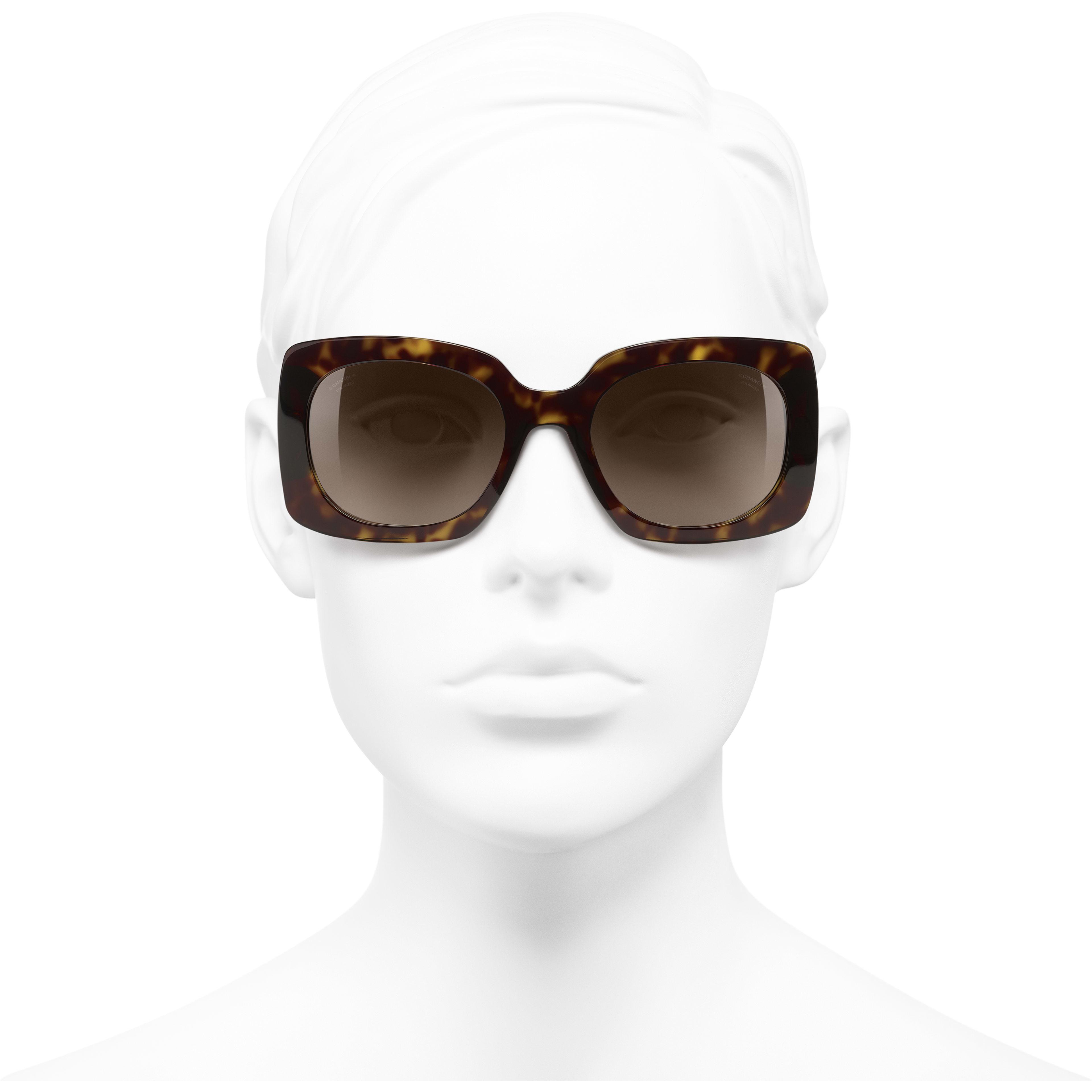 d068325087e ... Rectangle Sunglasses - Dark Tortoise   Dark Blue - Acetate   Denim - Polarized  Lenses -