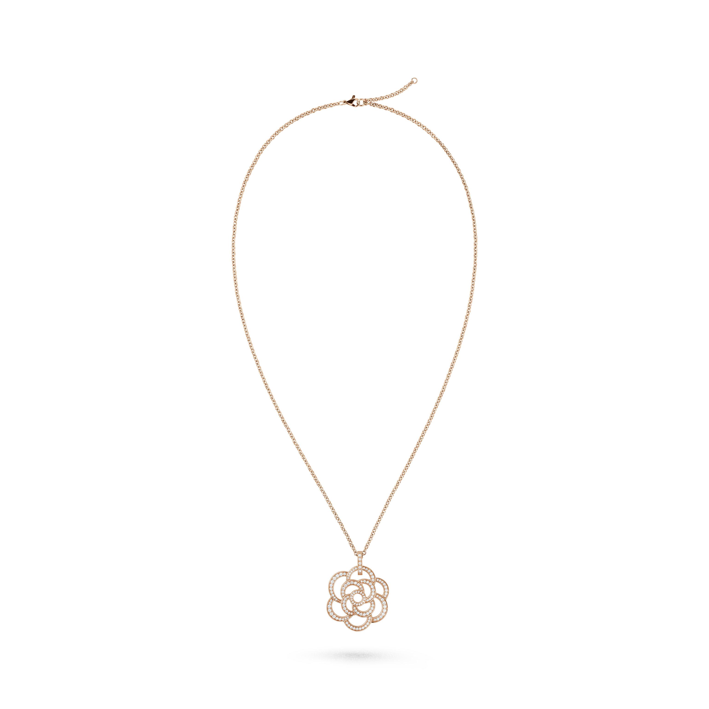 Collar Camélia Ajouré - Oro rosa de 18quilates y diamantes - CHANEL - Vista por defecto - ver la versión tamaño estándar