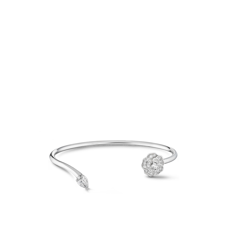 Camélia Précieux bracelet - 18K white gold, diamonds - CHANEL - Default view - see standard sized version