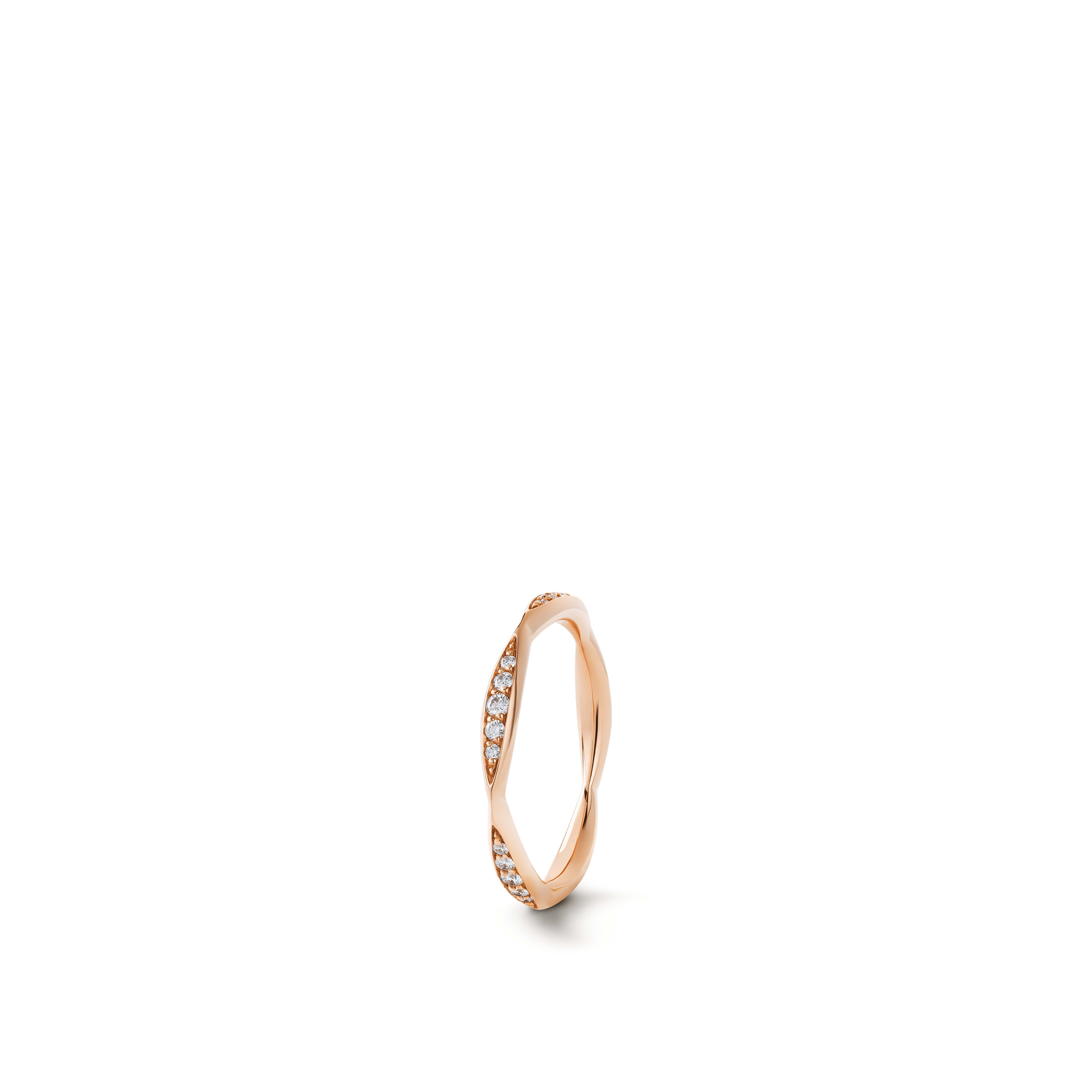 Camélia wedding band - 18K pink gold, diamonds - CHANEL - Default view - see standard sized version