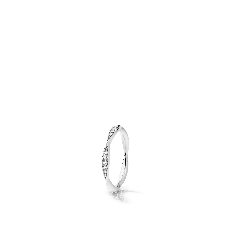 Camélia wedding band - Platinum, diamonds - CHANEL - Default view - see standard sized version