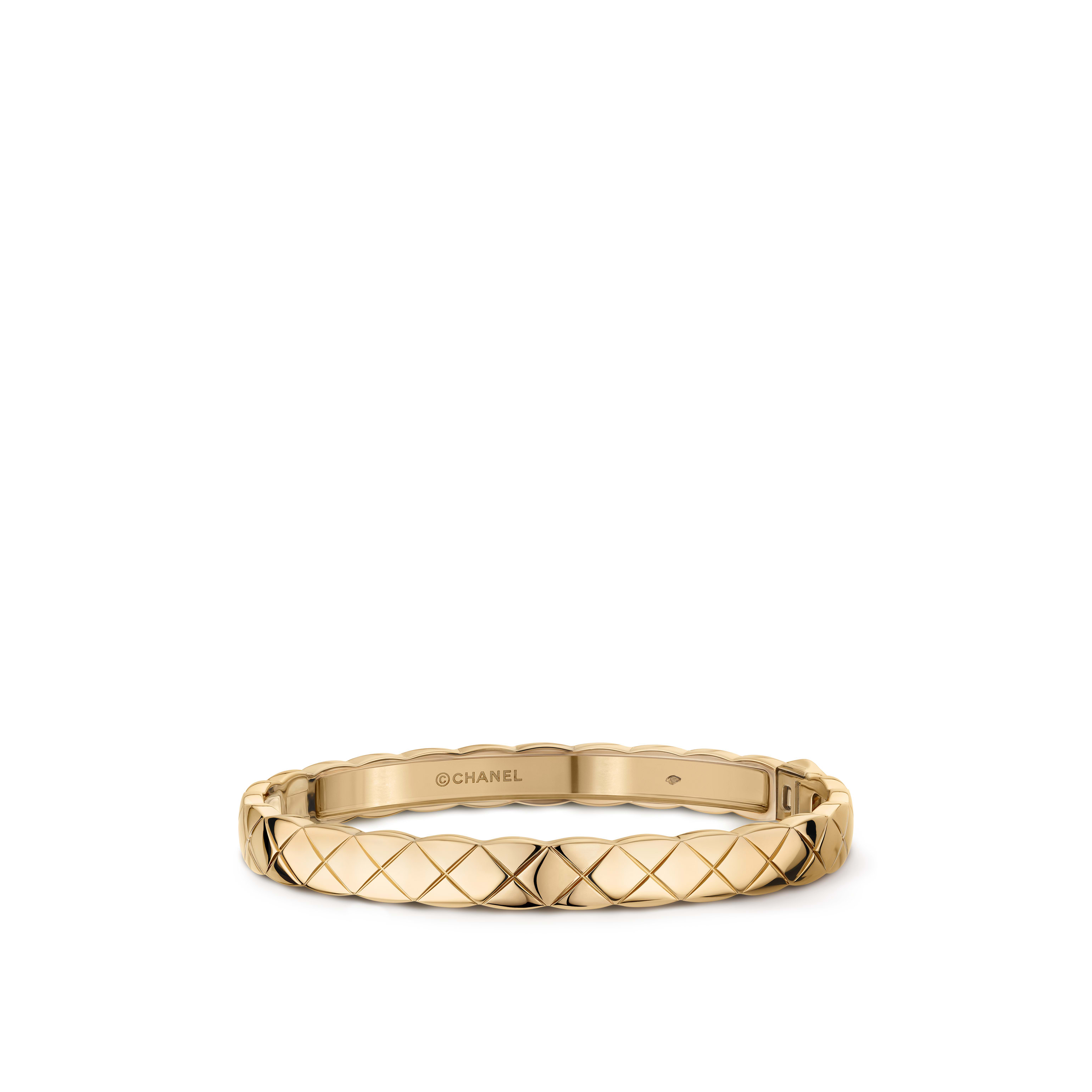 Coco Crush bracelet - Quilted motif, 18K BEIGE GOLD - CHANEL - Default view - see standard sized version