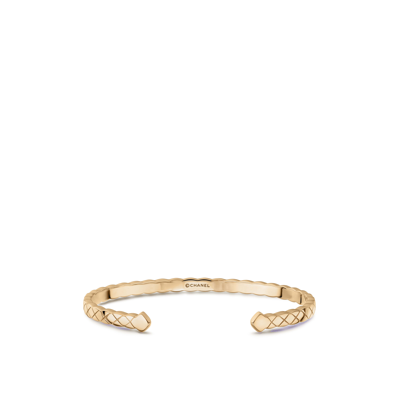 Bracelet Coco Crush - Motif matelassé, OR BEIGE 18carats - CHANEL - Vue par défaut - voir la version taille standard
