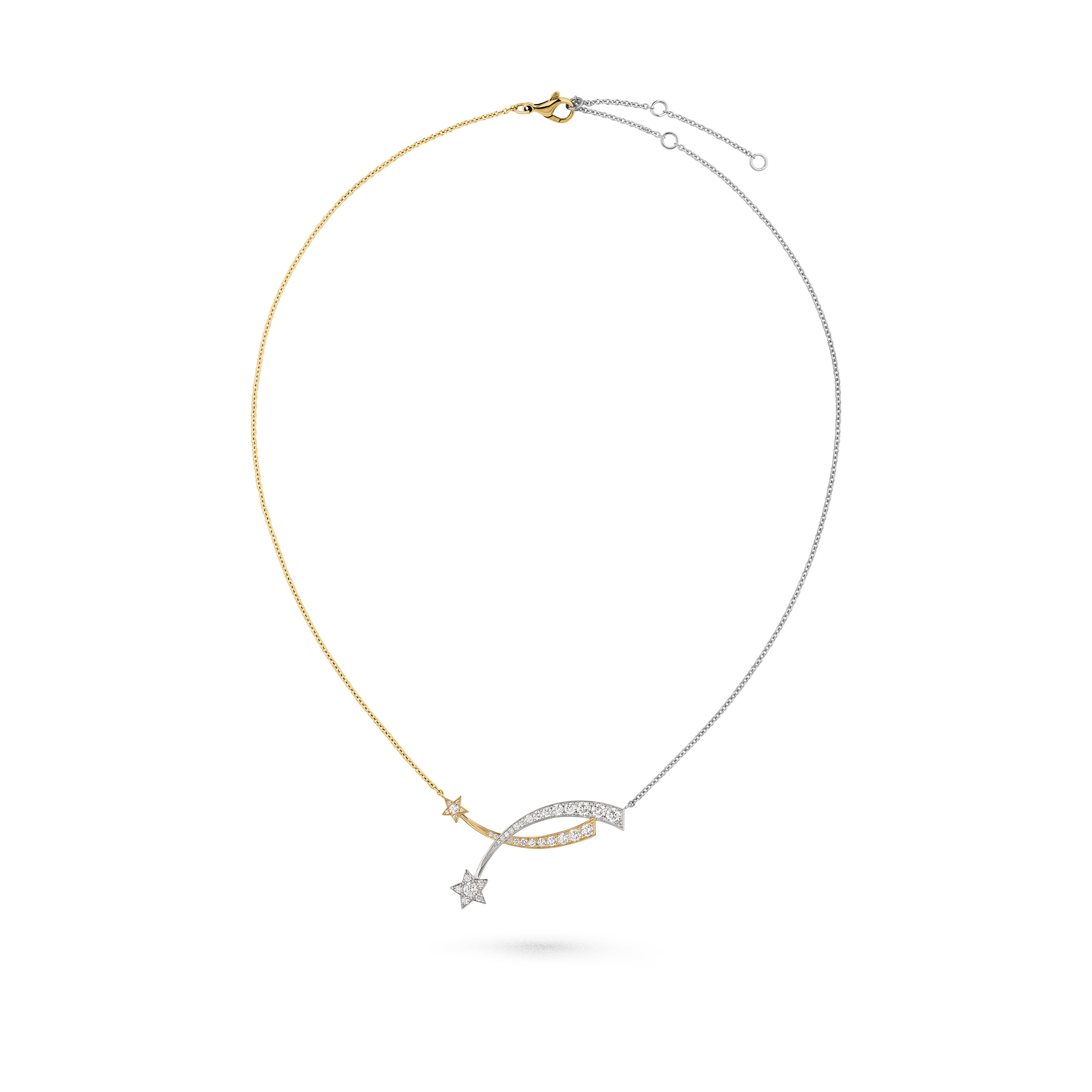 Étoile Filante necklace - 18K white and yellow gold, diamonds - CHANEL - Default view - see standard sized version