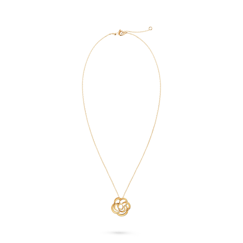Fil de Camélia necklace - 18K yellow gold - CHANEL - Default view - see standard sized version