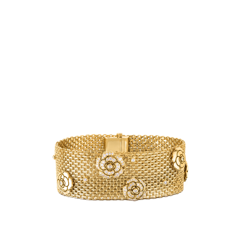 Impression de Camélia bracelet - 18K yellow gold, diamonds - CHANEL - Default view - see standard sized version