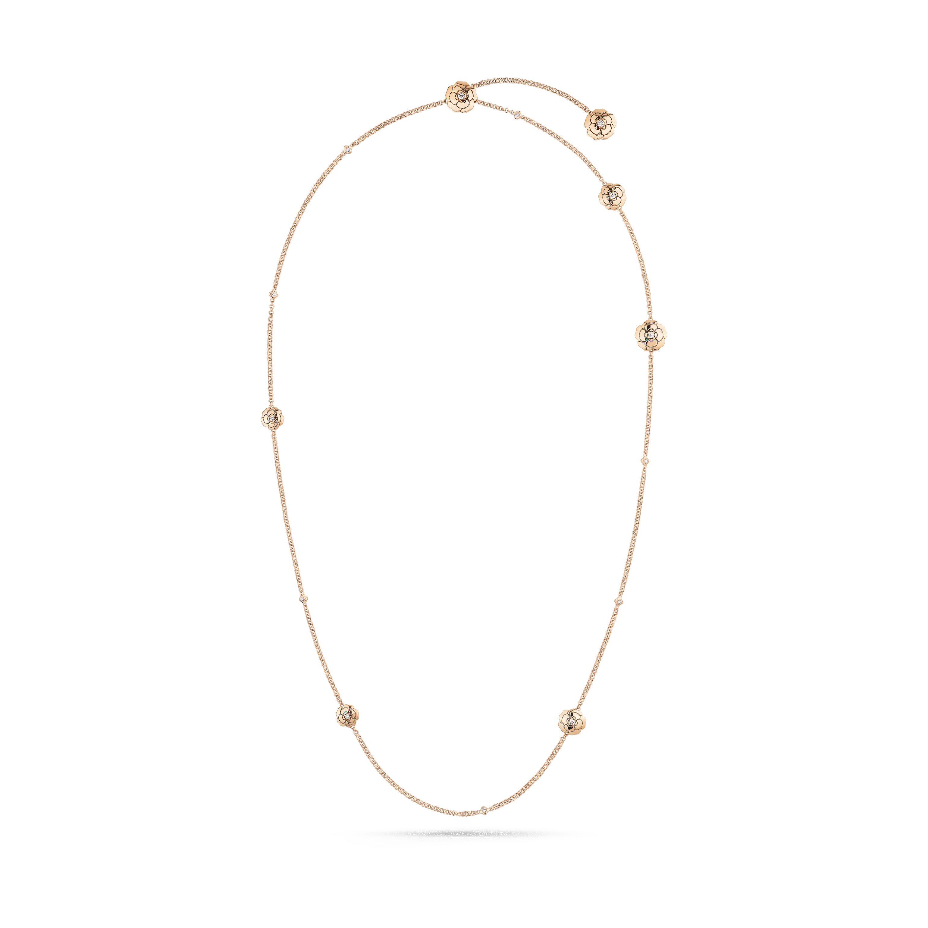 Les infinis de Camélia - Transformable long necklace, 18K pink gold, diamonds - CHANEL - Default view - see standard sized version