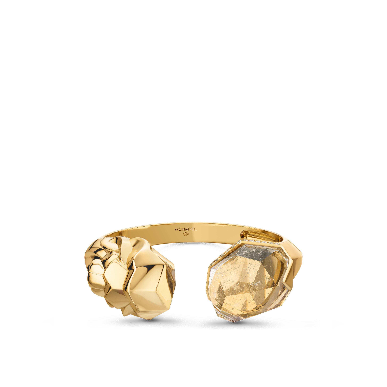 Lion Sculptural bracelet - 18K yellow gold, diamonds, quartz - CHANEL - Default view - see standard sized version
