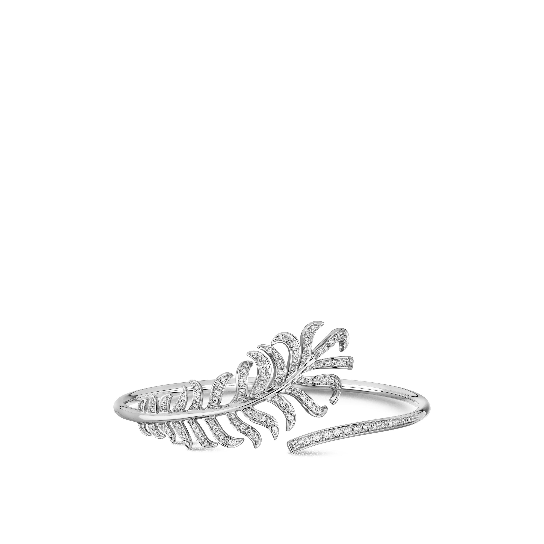Brazalete Plume de CHANEL - Oro blanco de 18quilates y diamantes - CHANEL - Vista por defecto - ver la versión tamaño estándar