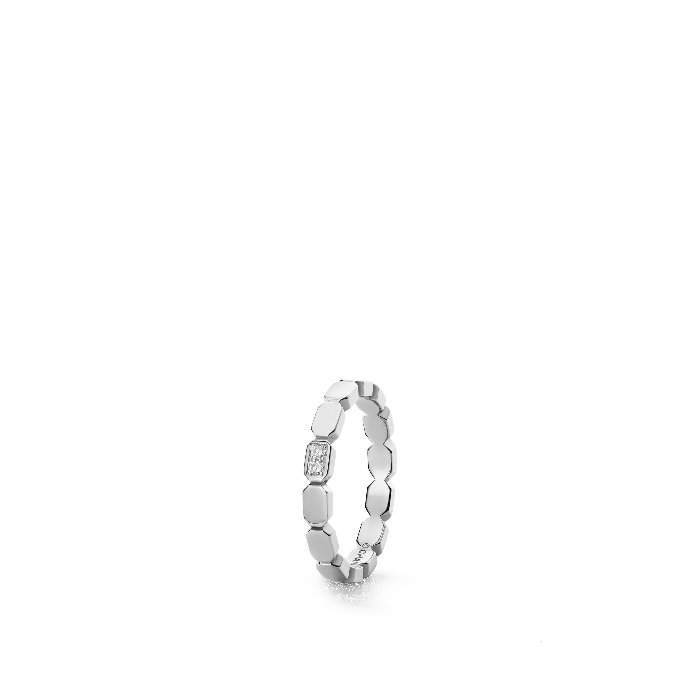 Première Promesse wedding band - Platinum, diamonds - CHANEL - Default view - see standard sized version