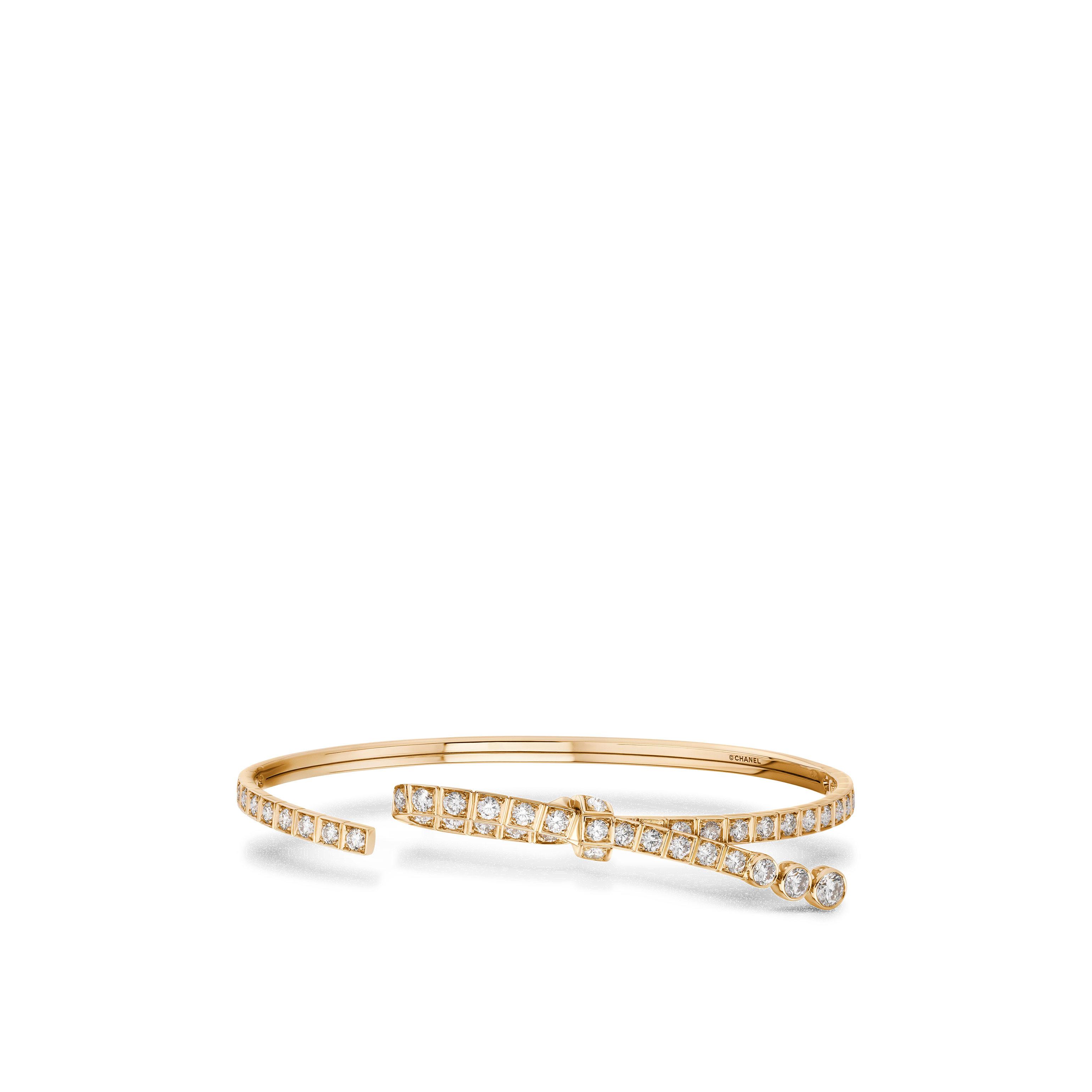 Ruban bracelet - 18K BEIGE GOLD, diamonds - CHANEL - Default view - see standard sized version