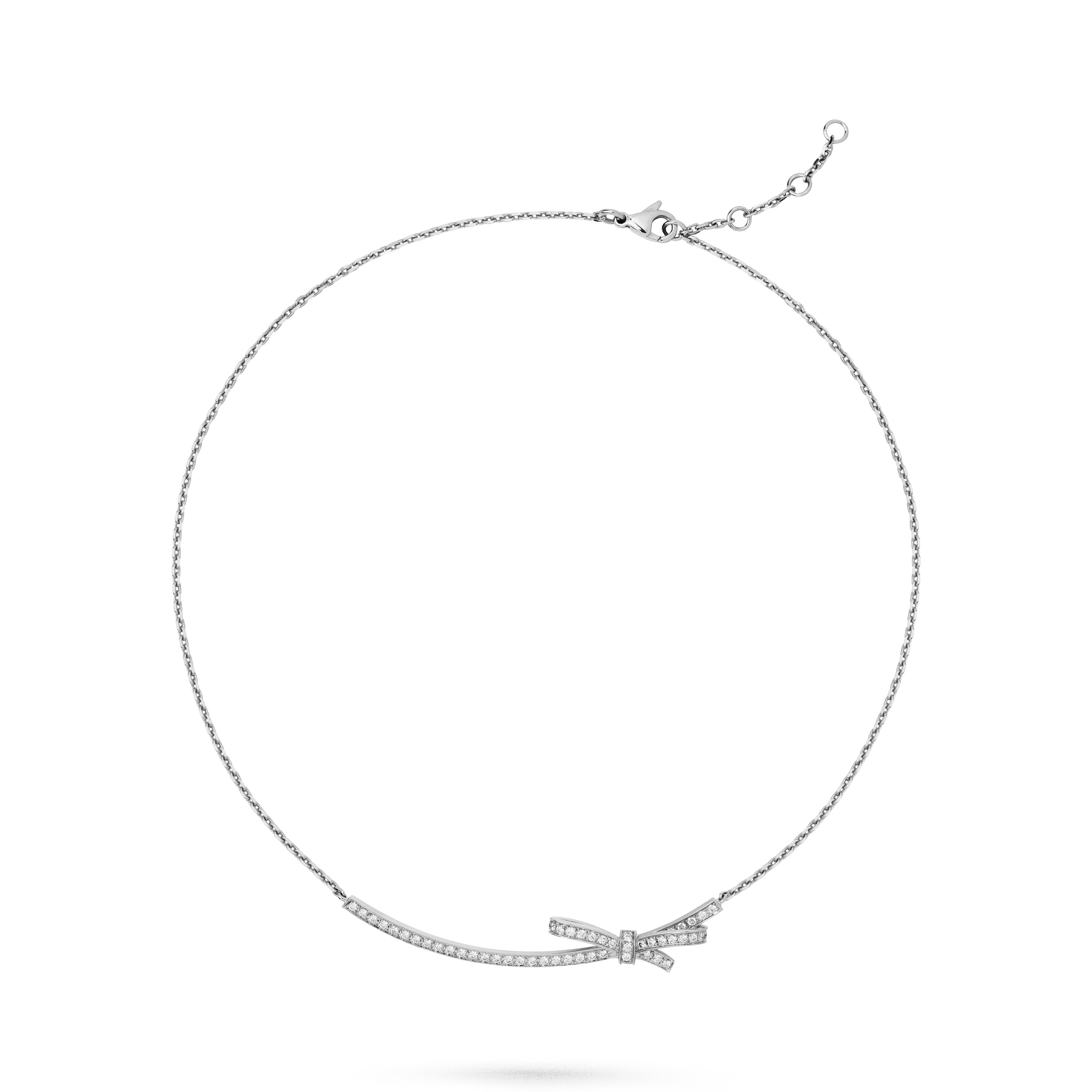 Ruban necklace - 18K white gold, diamonds - CHANEL - Default view - see standard sized version