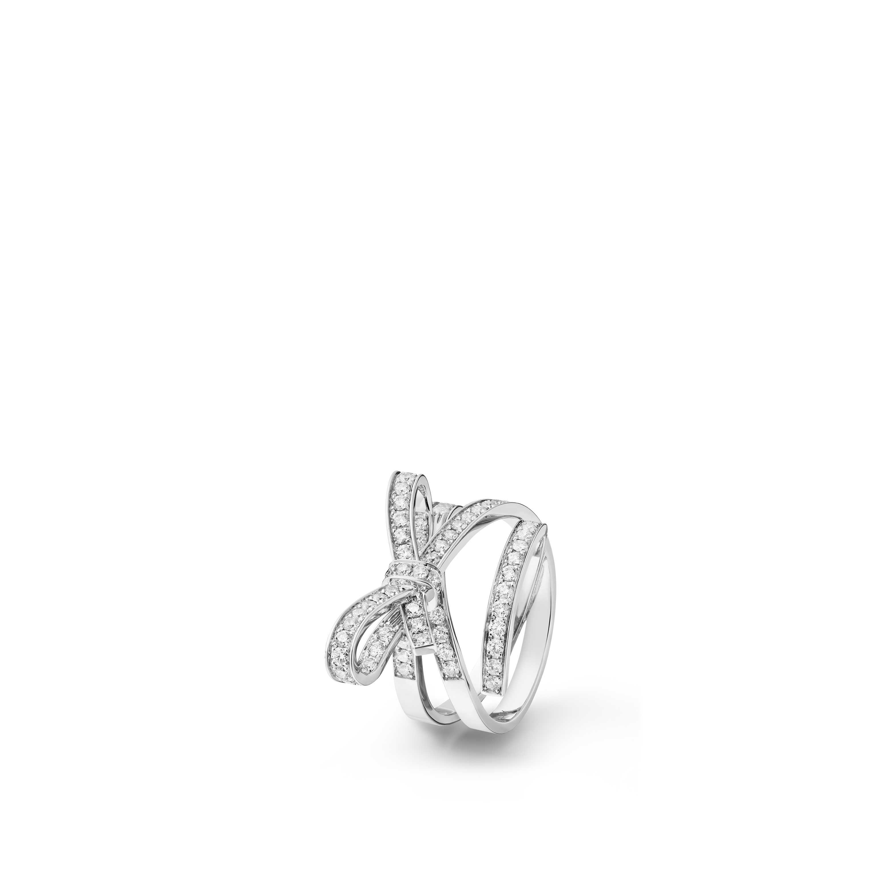 Ruban ring - 18K white gold, diamonds - CHANEL - Default view - see standard sized version