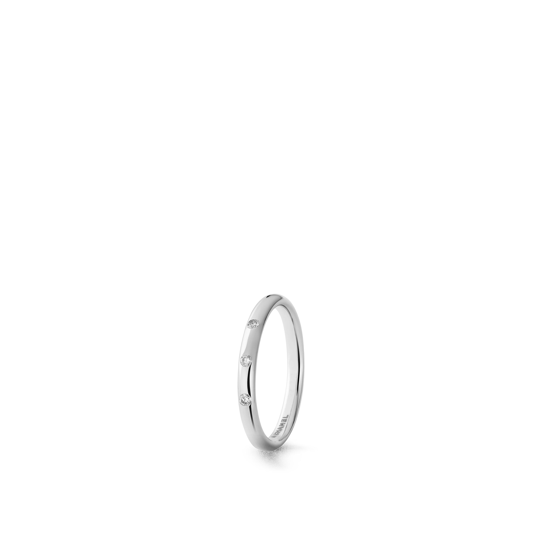 Ruban wedding band - Platinum, diamonds - CHANEL - Default view - see standard sized version