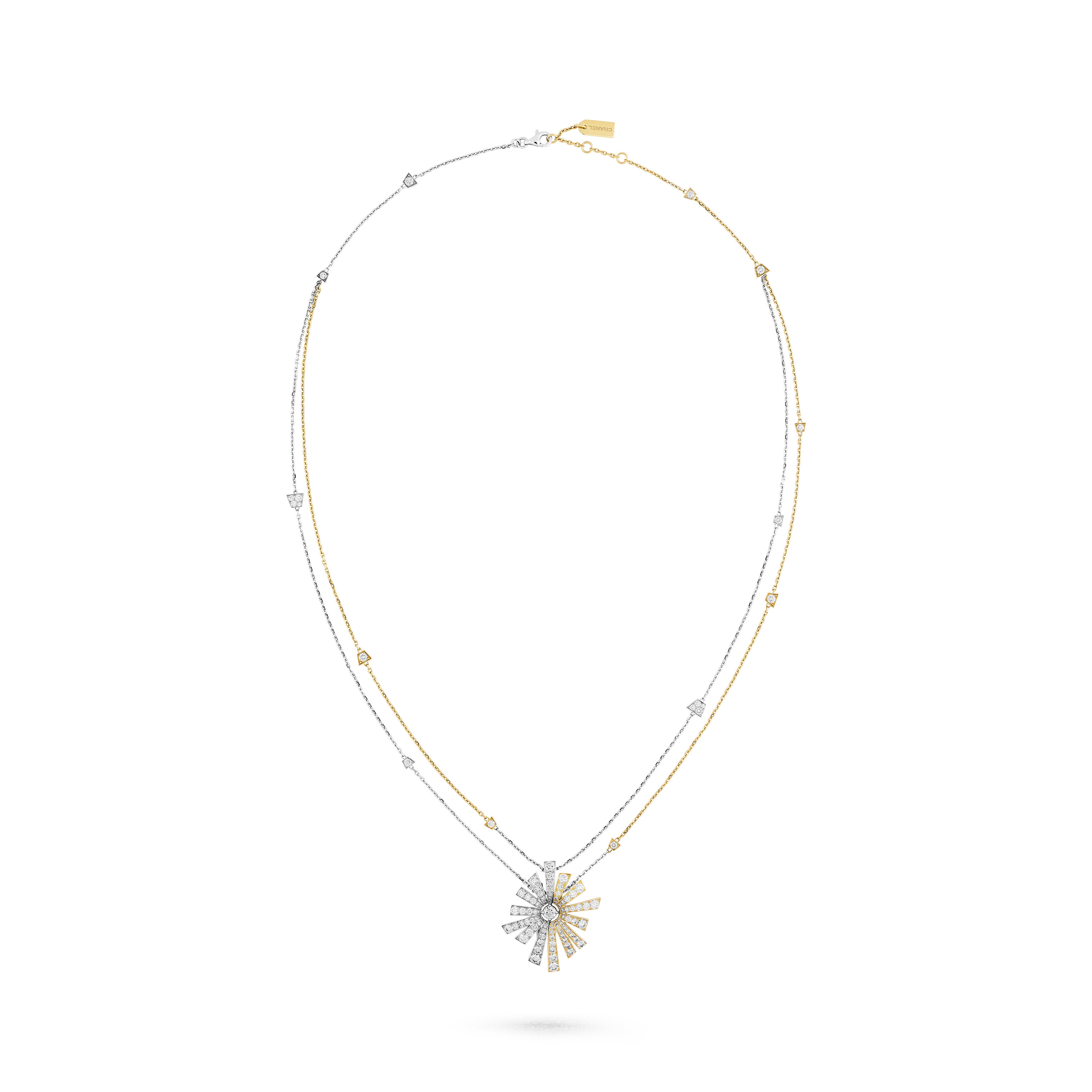 Soleil de CHANEL transformable necklace - 18K white and yellow gold, diamonds - CHANEL - Default view - see standard sized version