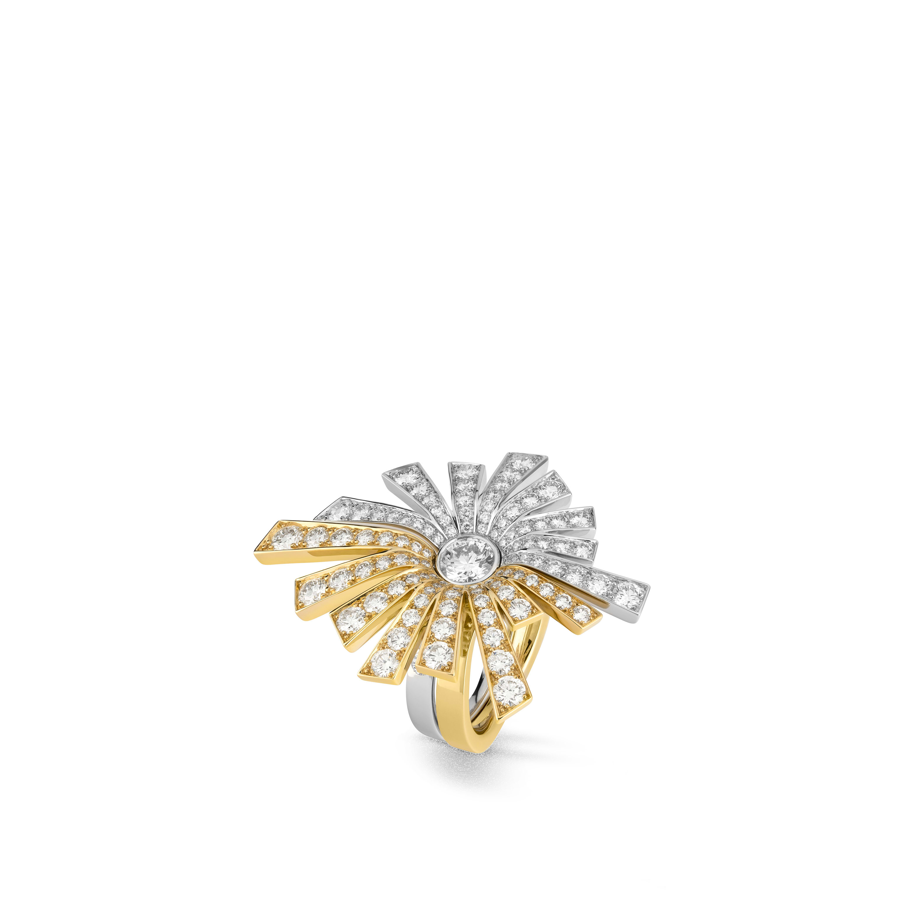 Soleil de CHANEL transformable ring - 18K white and yellow gold, diamonds - CHANEL - Default view - see standard sized version