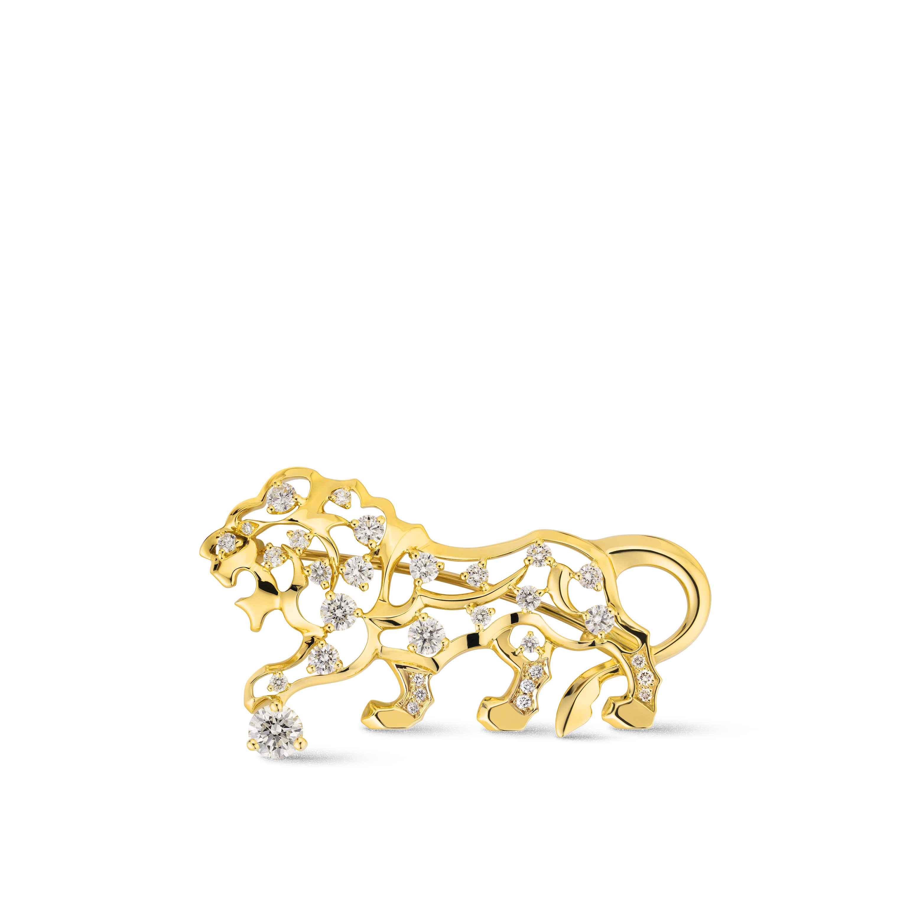 Sous le Signe du Lion brooch - 18K yellow gold, diamonds - CHANEL - Default view - see standard sized version