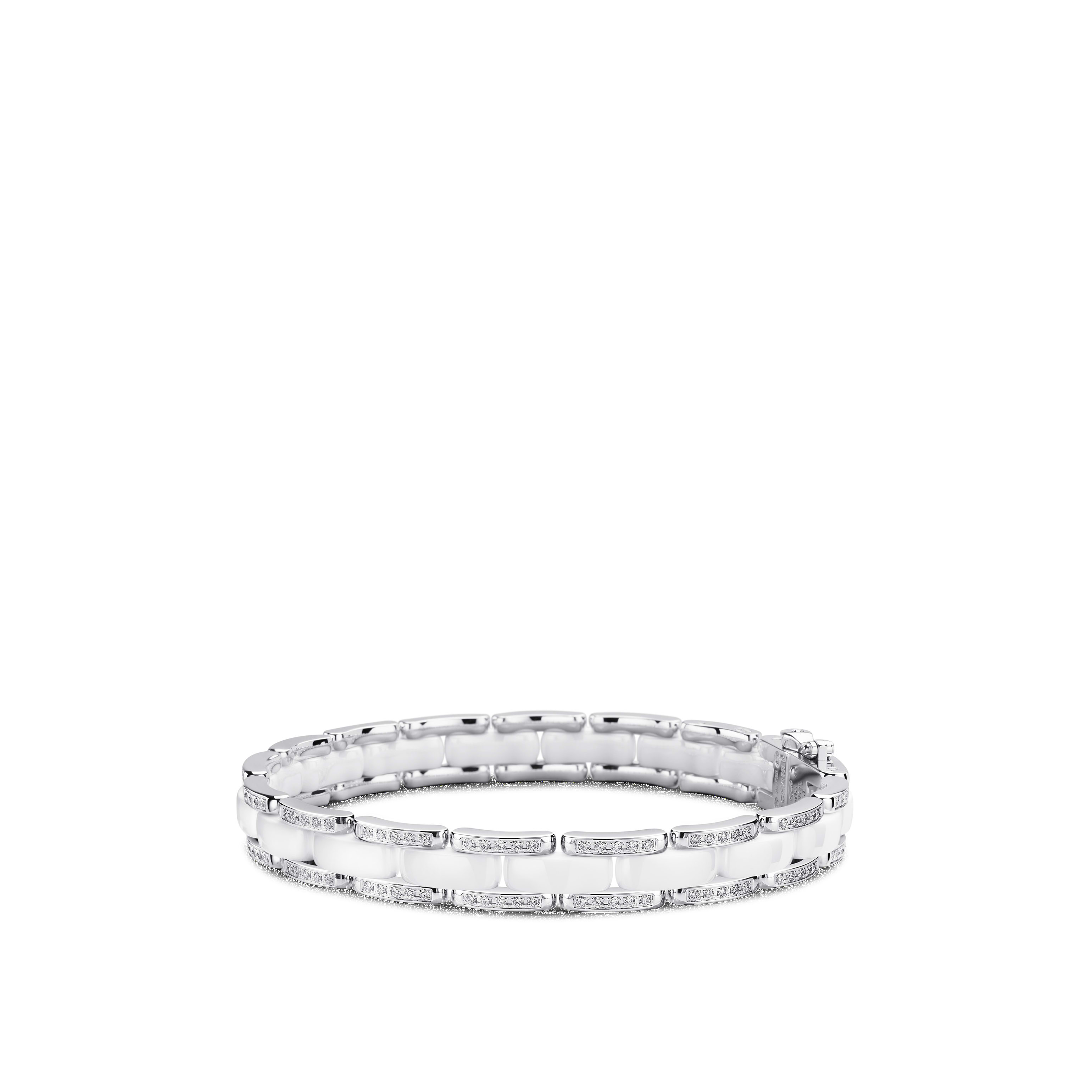 Ultra bracelet - 18K white gold, diamonds, white ceramic - CHANEL - Default view - see standard sized version