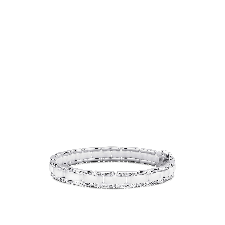 Pulseira Ultra - Ouro branco de 18 quilates, diamantes, cerâmica branca - CHANEL - Vista predefinida - ver a versão em tamanho standard