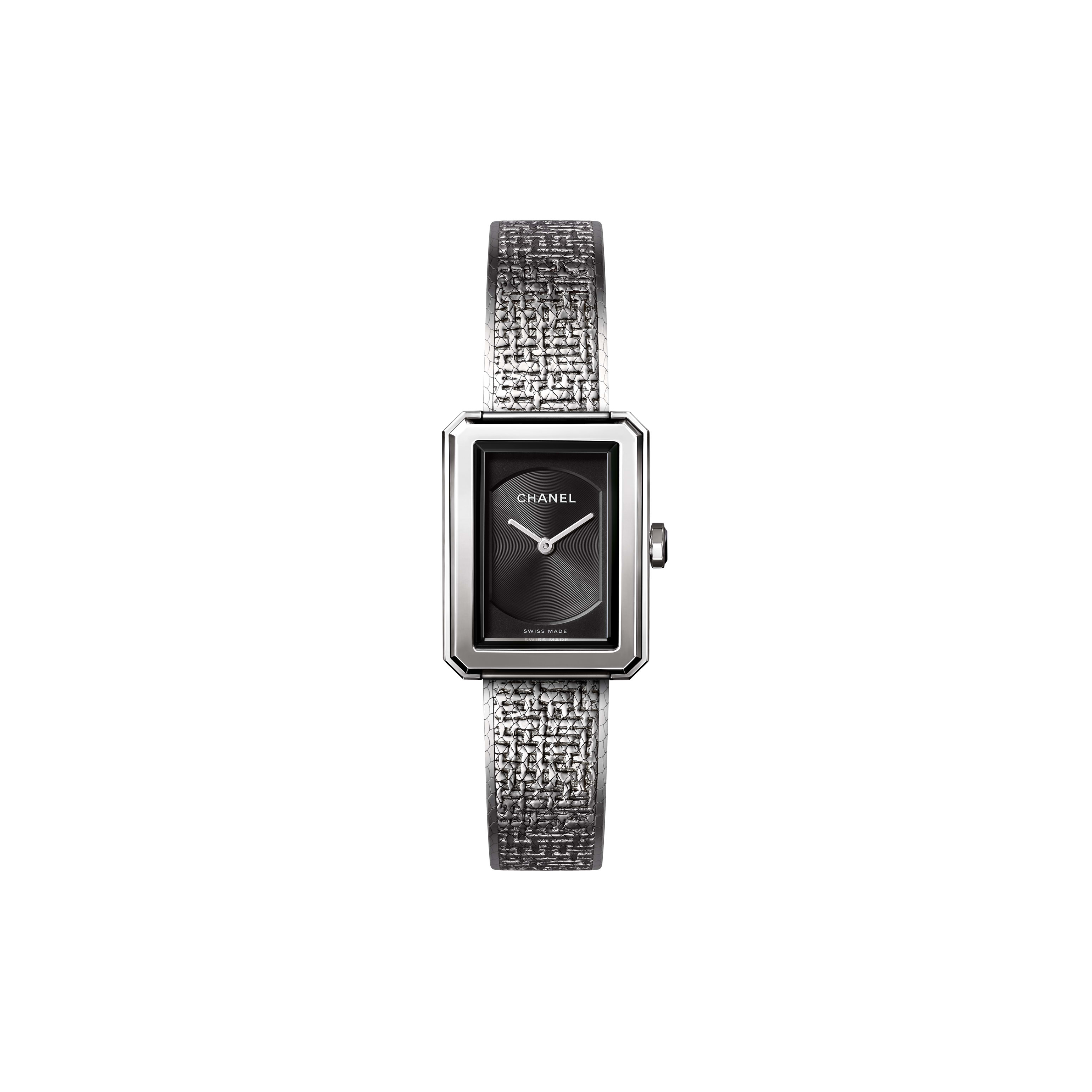 BOY·FRIEND TWEED Watch - Small version, steel - CHANEL - Default view - see standard sized version
