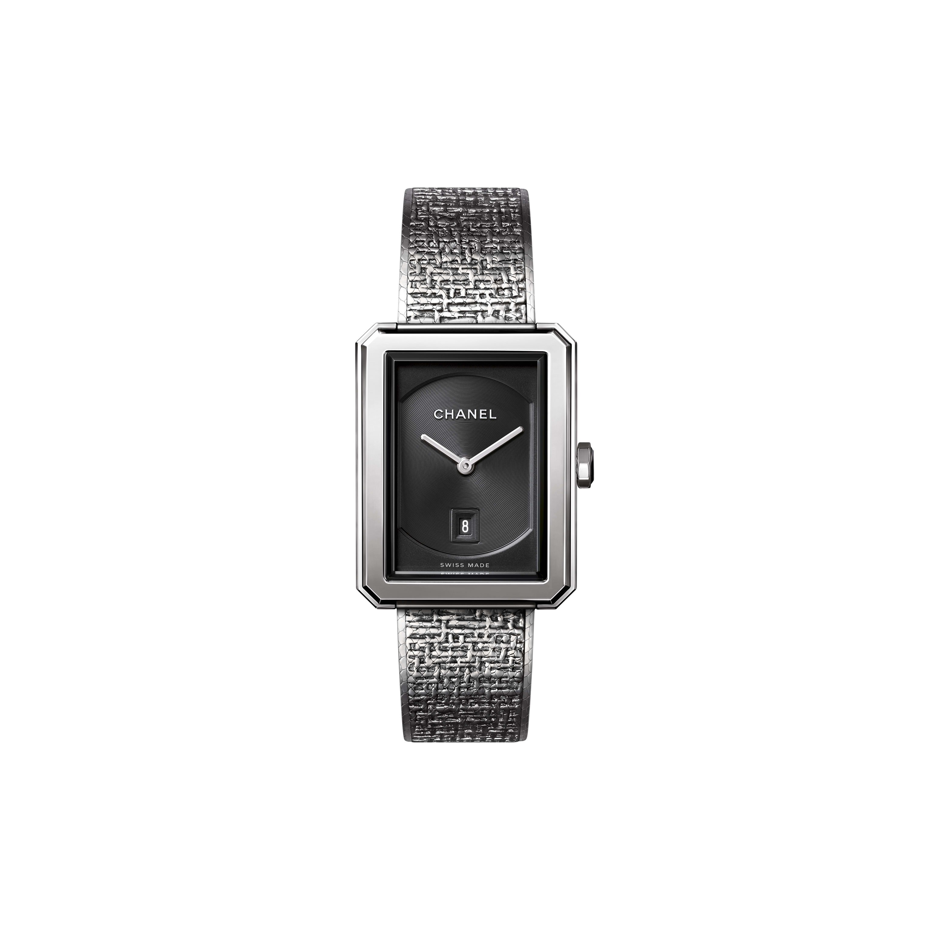 BOY·FRIEND TWEED Watch - Medium version, steel - CHANEL - Default view - see standard sized version