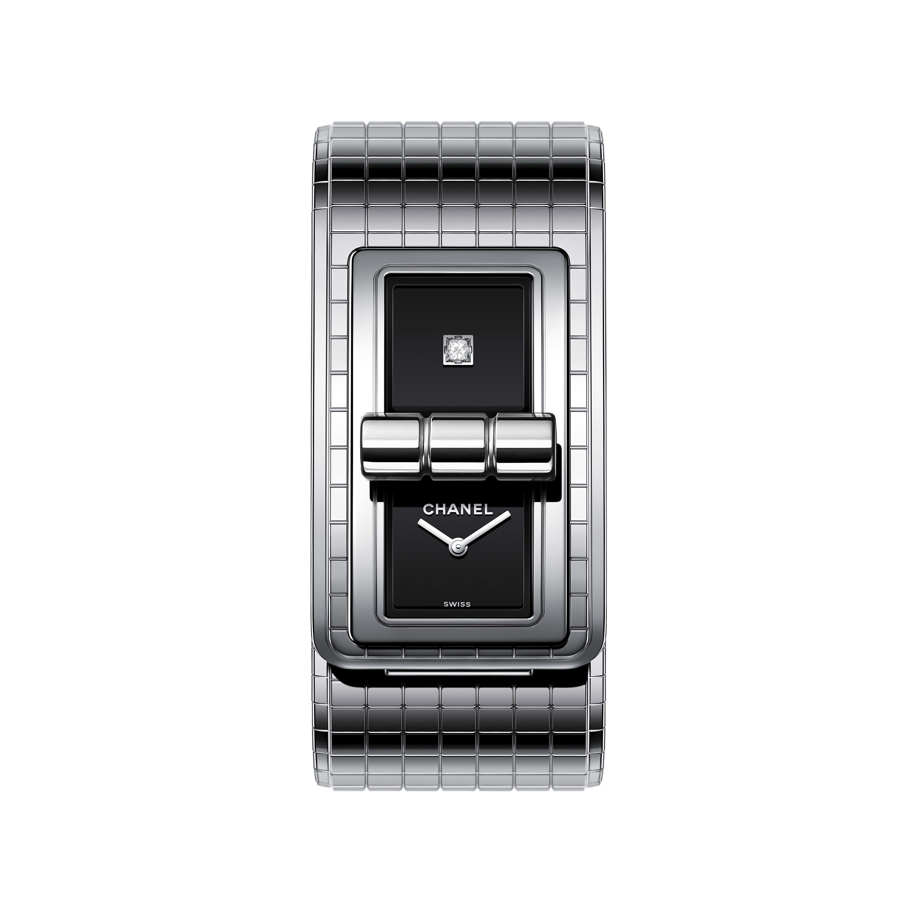 CODE COCO Oversize watch - Steel and titanium - CHANEL - Default view - see standard sized version