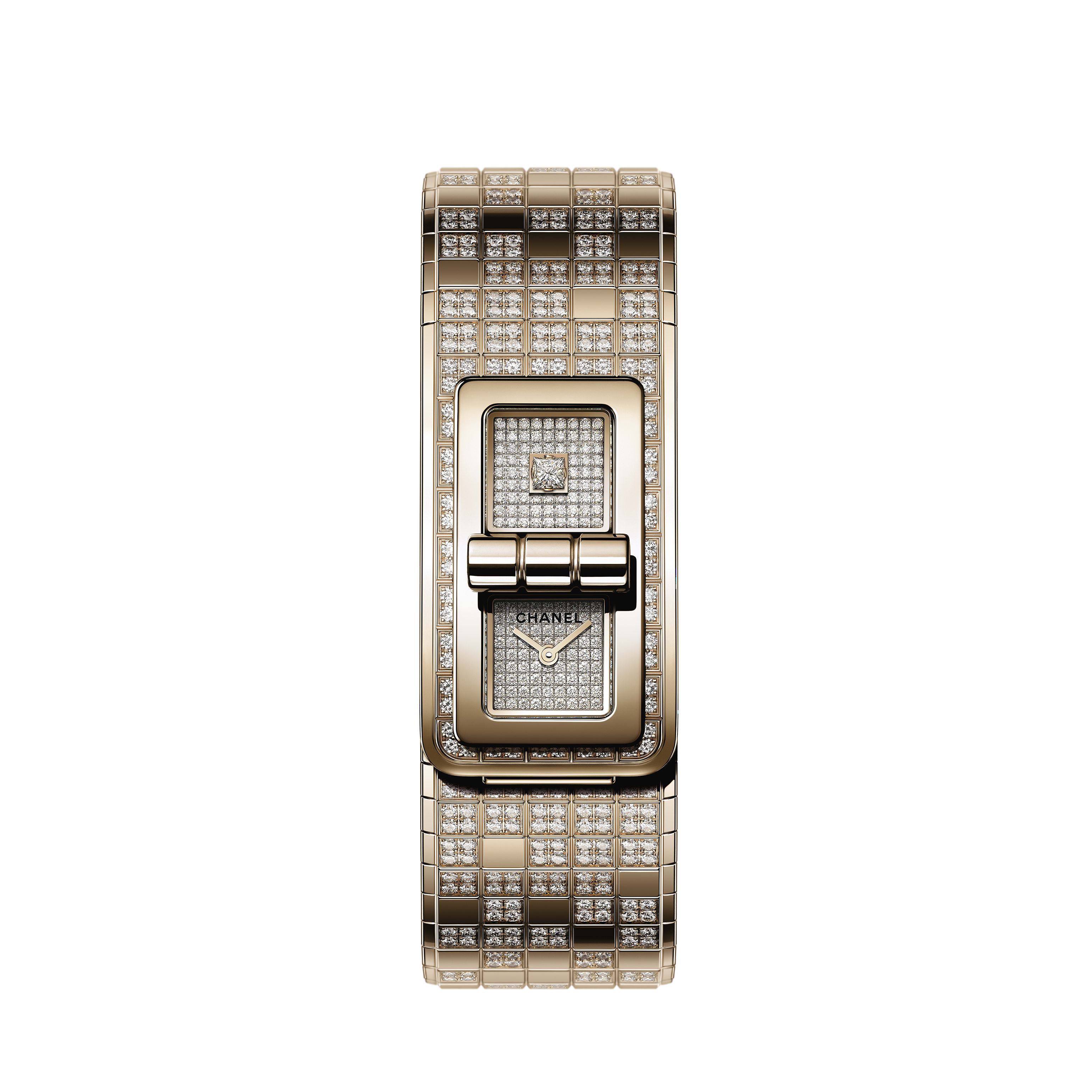 CODE COCO PIXEL Watch - BEIGE GOLD and diamonds - CHANEL - Default view - see standard sized version