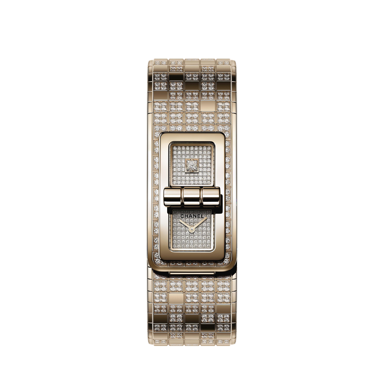 Reloj CODE COCO PIXEL - ORO BEIGE y diamantes - CHANEL - Vista por defecto - ver la versión tamaño estándar