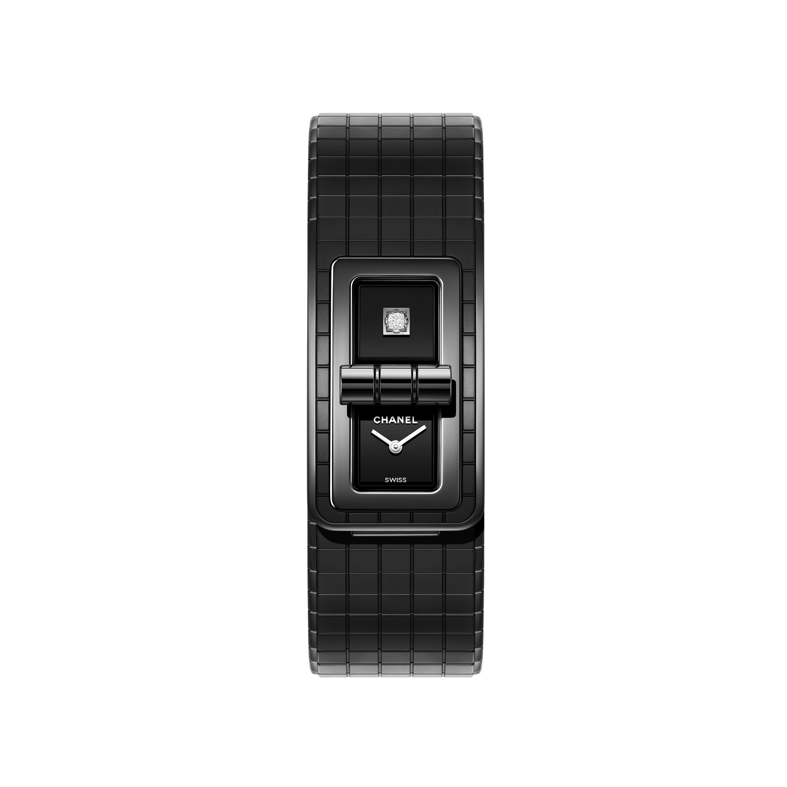 CODE COCO So Black Watch - Black highly resistant ceramic and steel - CHANEL - Default view - see standard sized version