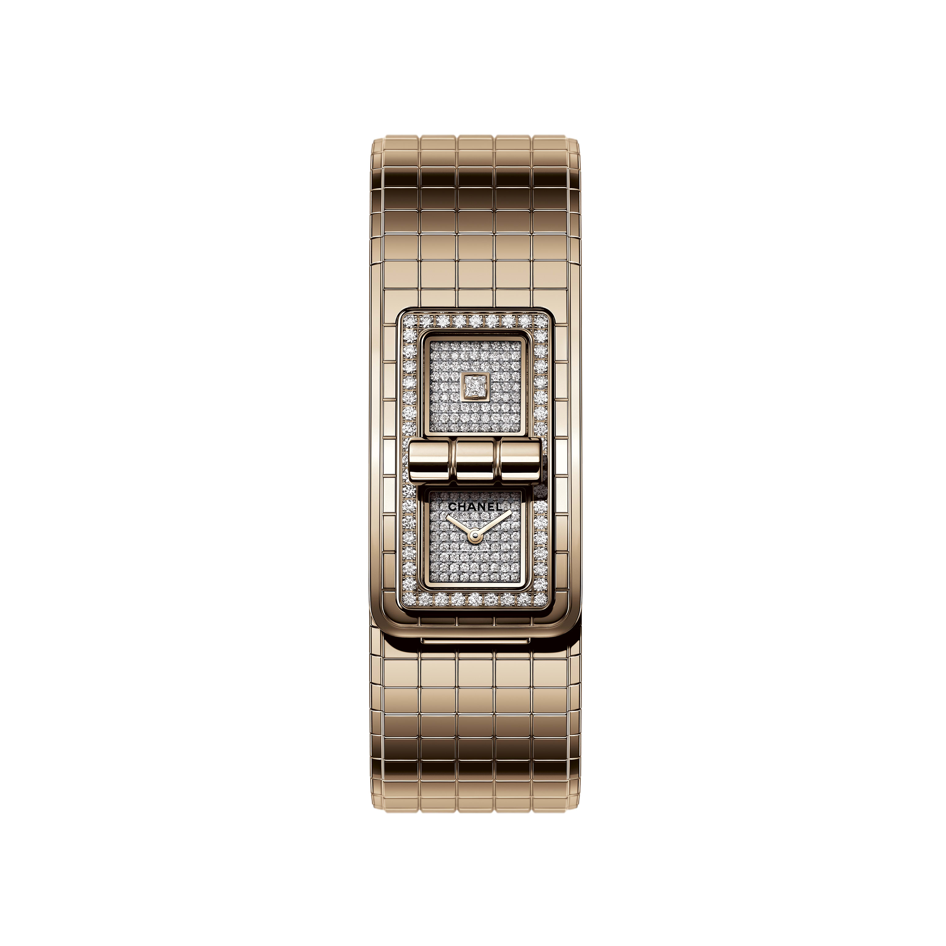 CODE COCO Watch - BEIGE GOLD and diamonds - CHANEL - Default view - see standard sized version