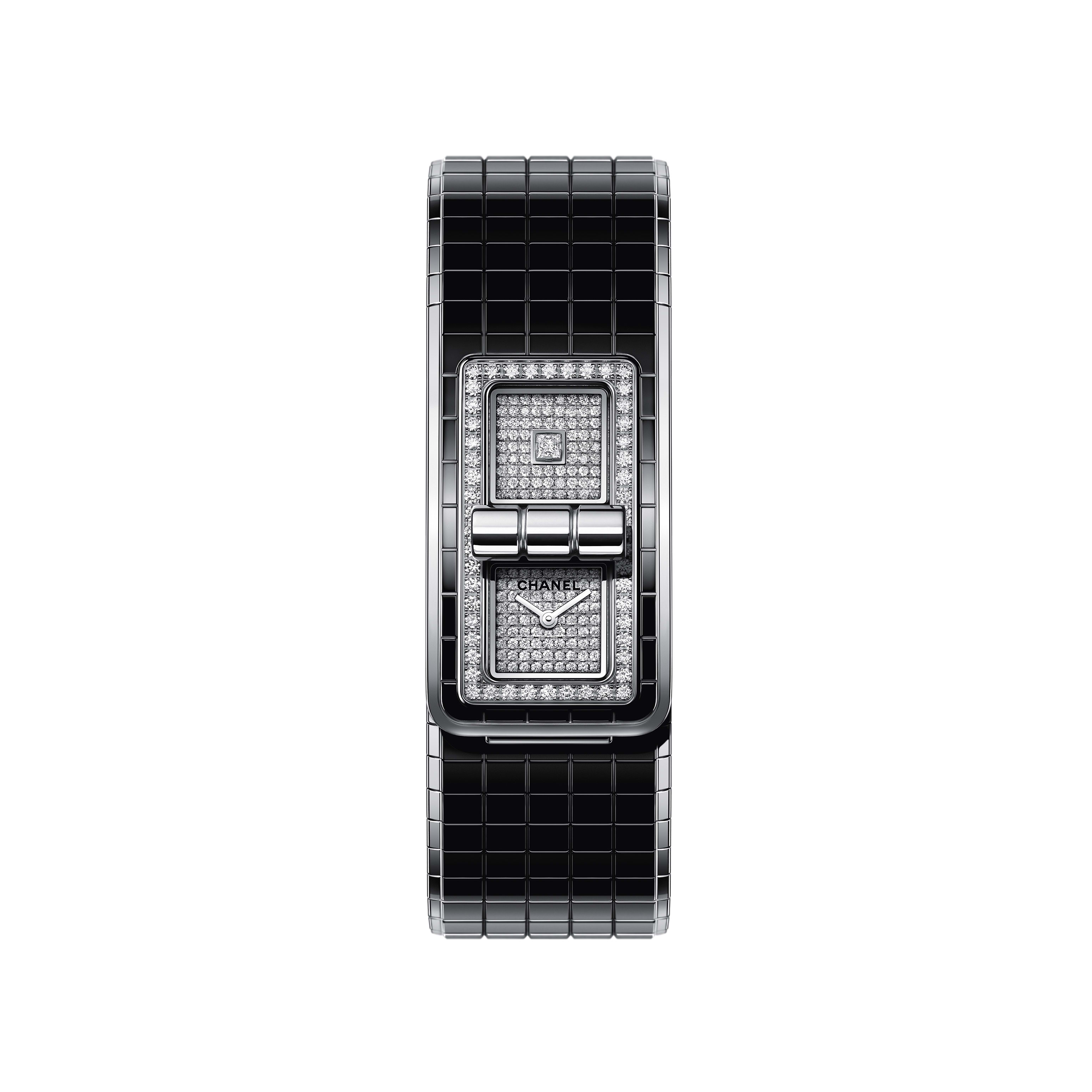 CODE COCO Watch - Steel, highly resistant ceramic and diamonds - CHANEL - Default view - see standard sized version