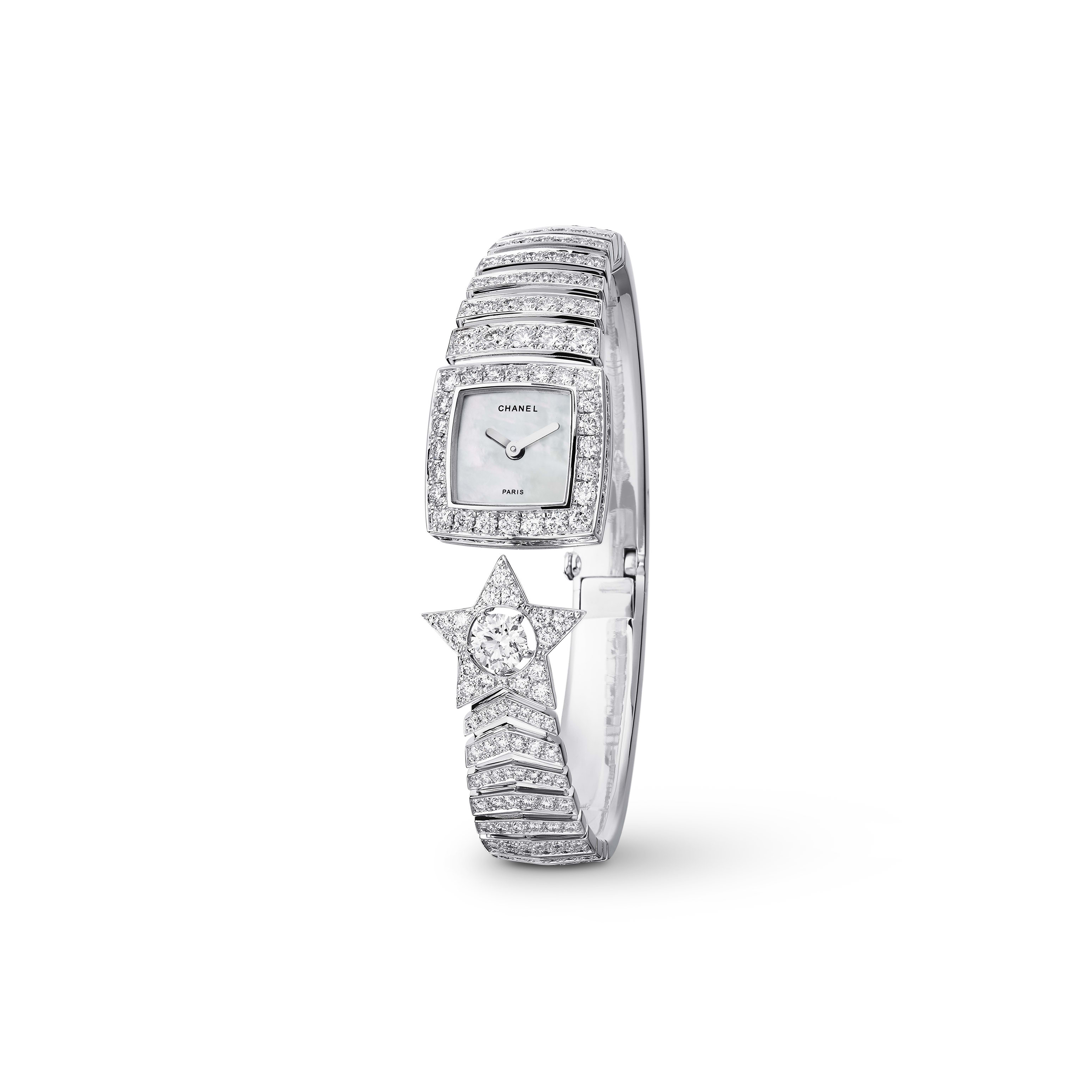 Comète Jewellery Watch - Star motif in 18K white gold and diamonds - CHANEL - Default view - see standard sized version