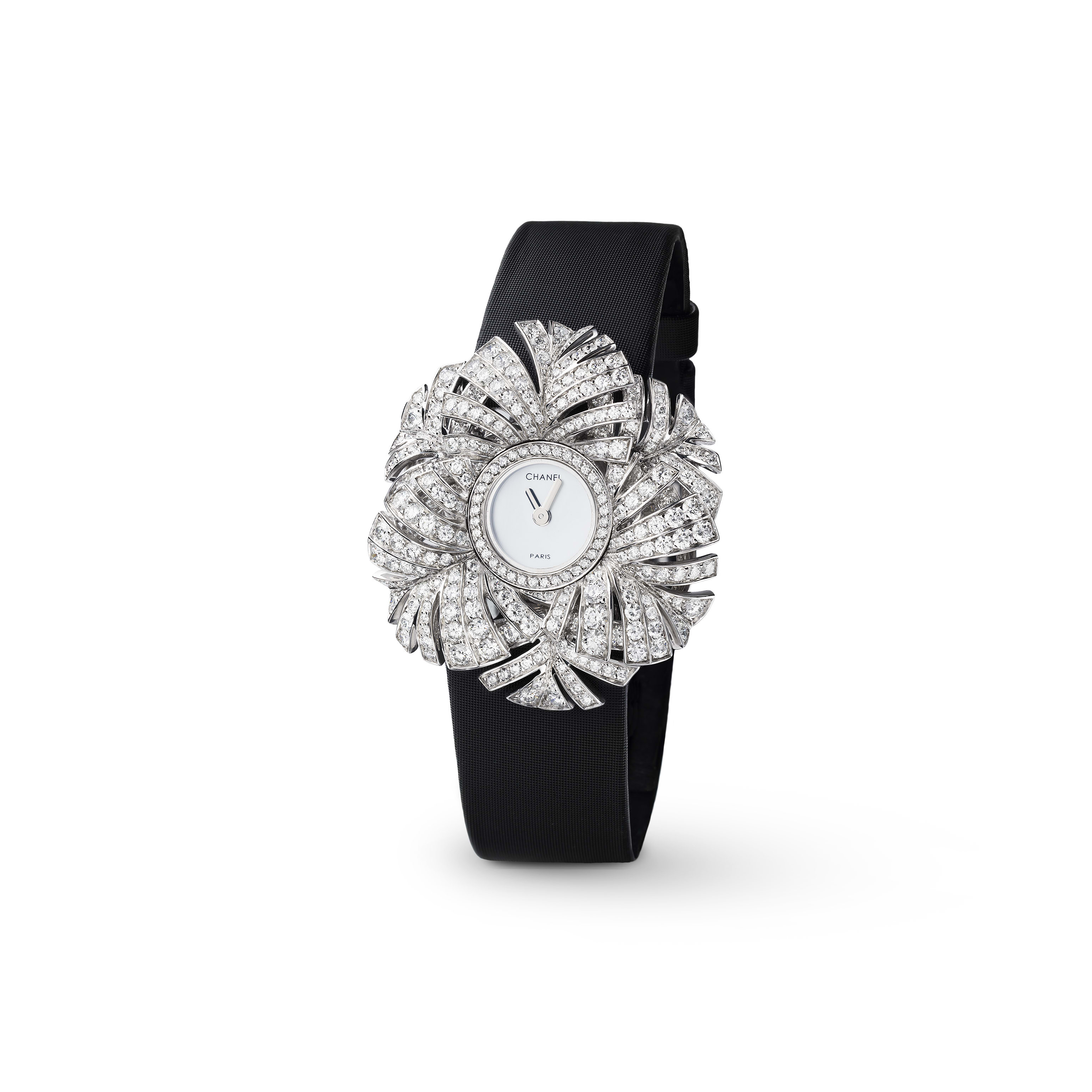 Plume de CHANEL Jewellery Watch - Plume Panache motif in 18K white gold and diamonds - CHANEL - Default view - see standard sized version