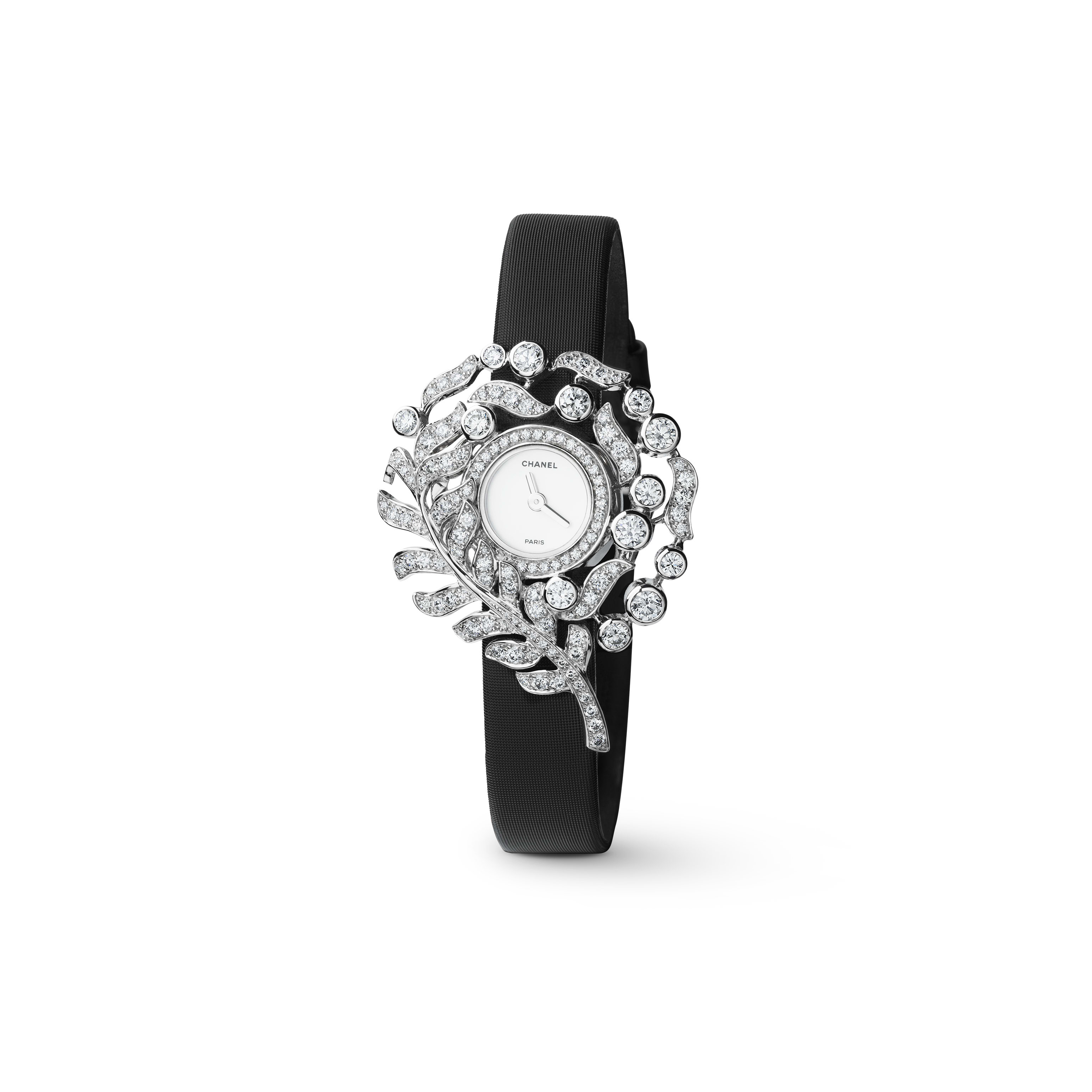 Plume de CHANEL Jewellery Watch - Plume necklace in 18K white gold and diamonds - CHANEL - Default view - see standard sized version