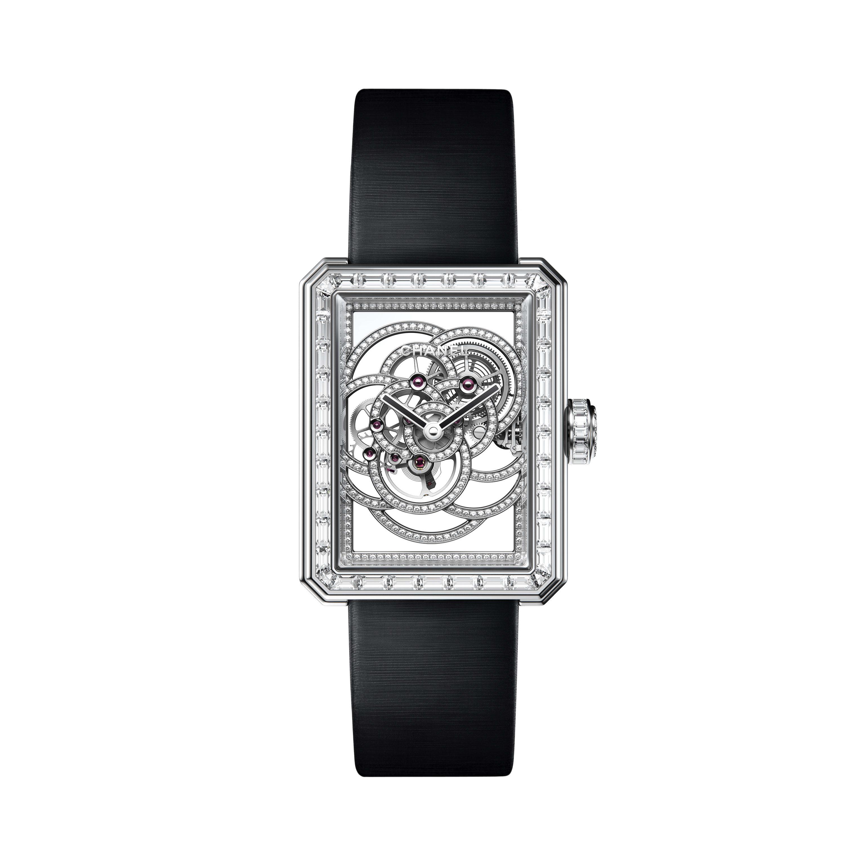 Orologio Première Squelette Camélia - Oro bianco, cassa, lunetta, scheletratura e corona con diamanti. - CHANEL - Immagine predefinita - vedere versione standard