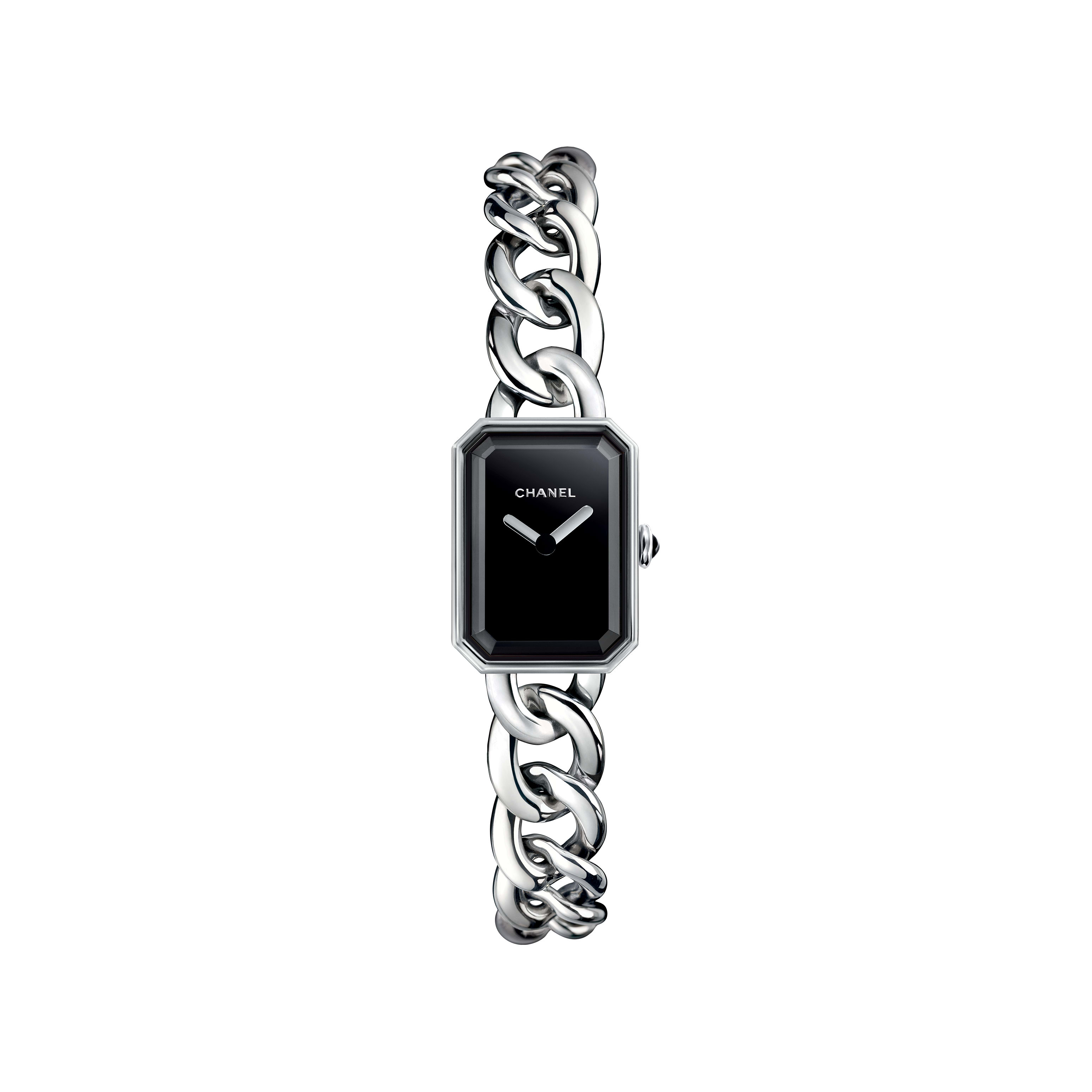 Première Chaîne - Small version, steel, black dial - CHANEL - Default view - see standard sized version