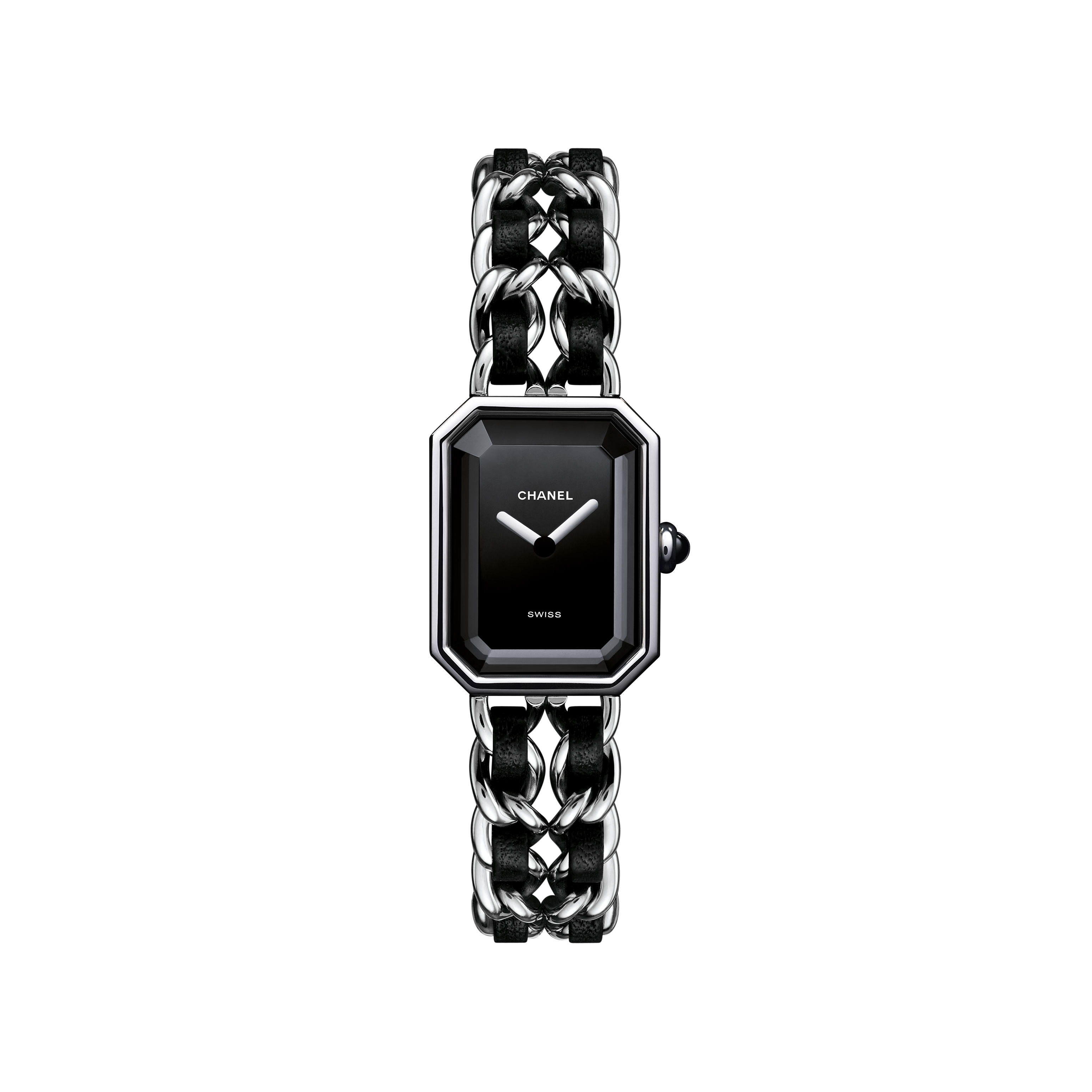 Première Rock - Steel and black leather, black dial - Default view - see standard sized version