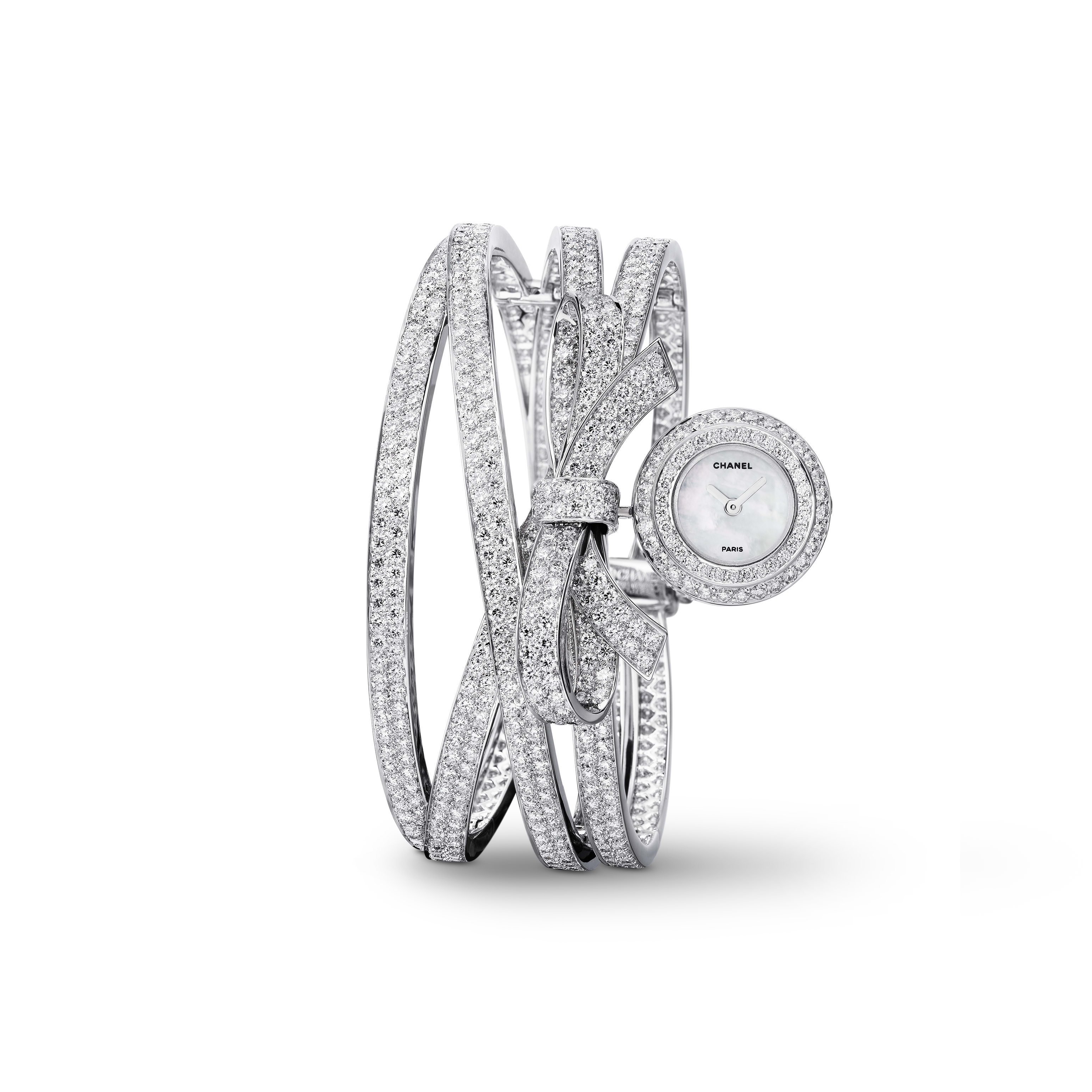 Ruban Jewellery Watch - Ruban motif in 18K white gold and diamonds - CHANEL - Default view - see standard sized version