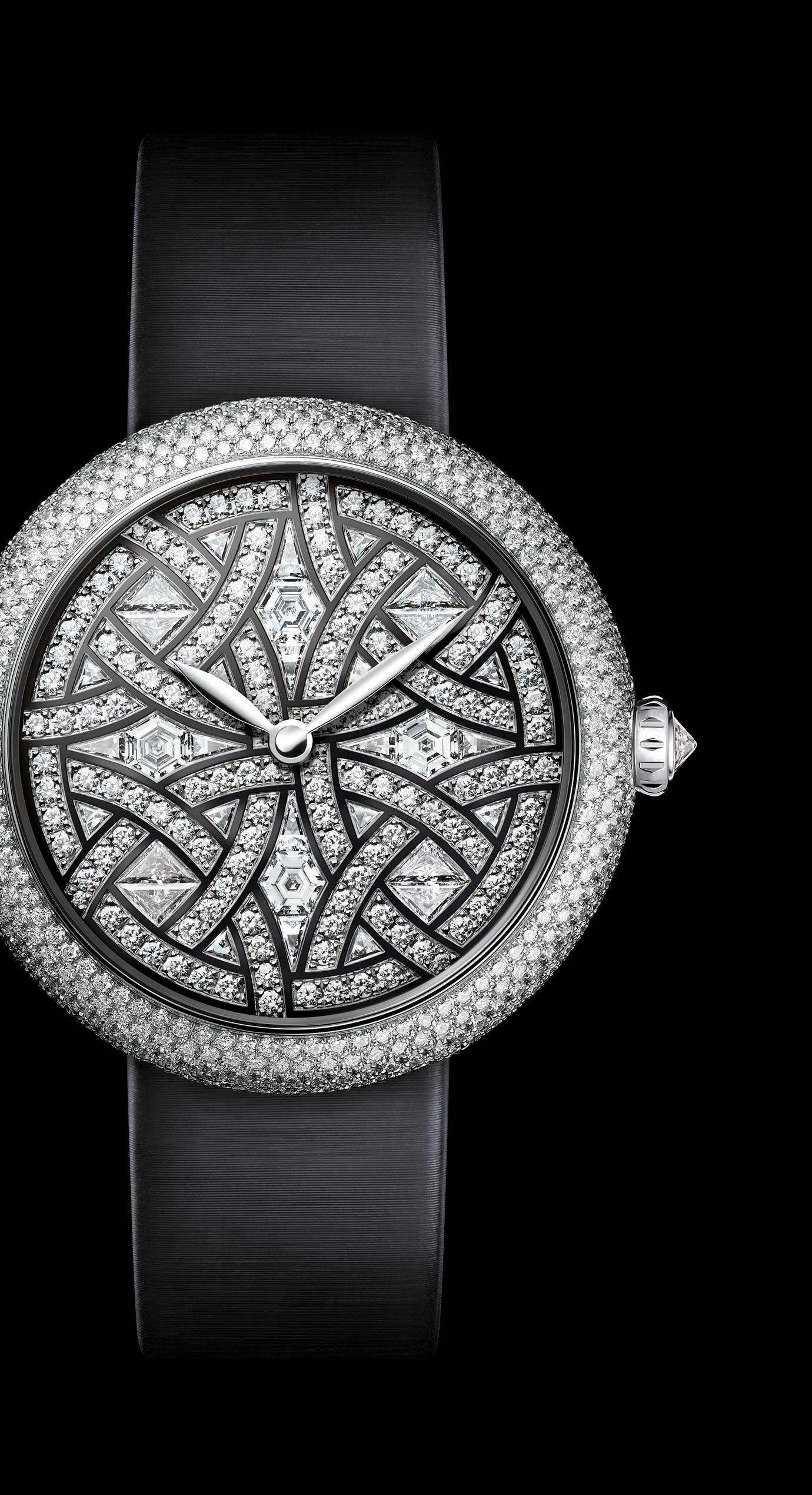 Reloj Mademoiselle Privé - Oro blanco y diamantes. - Vista ampliada