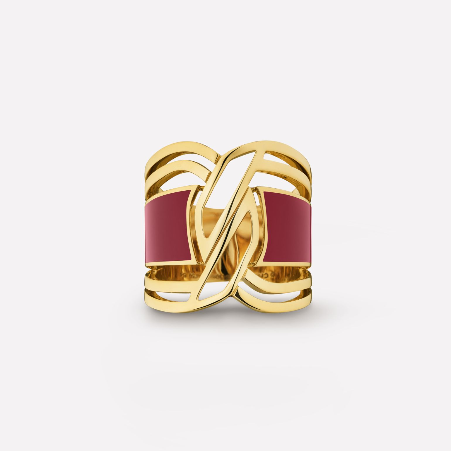 Bague My Red Or jaune 18 carats et HyCeram® rouge