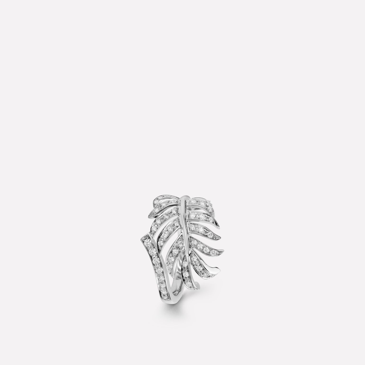 Bague Plume de CHANEL Motif plume en or blanc 18 carats et diamants