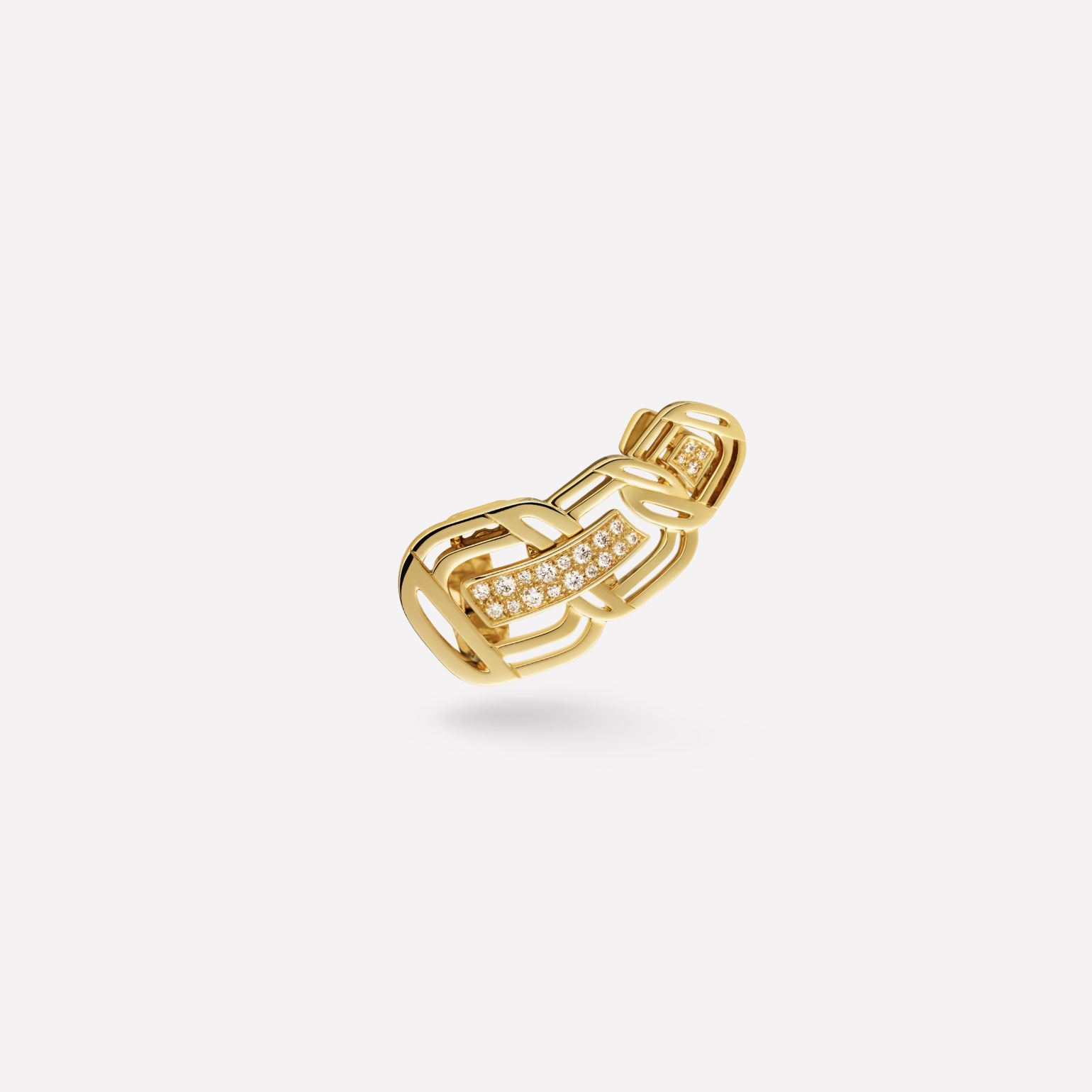 Boucle d'oreille My Golden Link Or jaune 18 carats et diamants