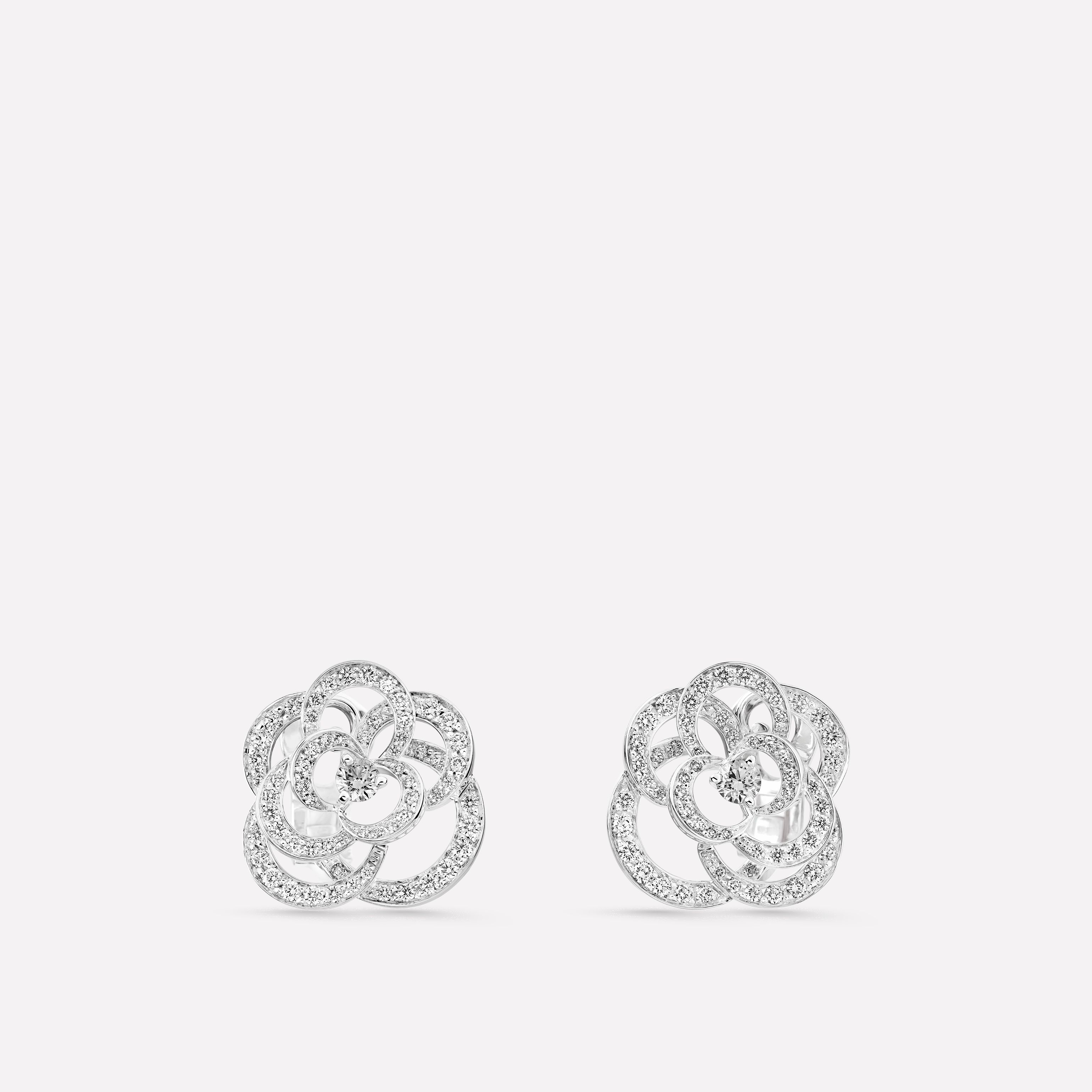 See Full Size Image Camélia Earrings J2672 Front View Standard